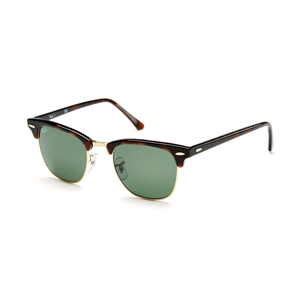 405144e160c051 Ray-Ban Clubmaster RB 3016 Unisex Tortoise Frame Green Classic Lens  Sunglasses
