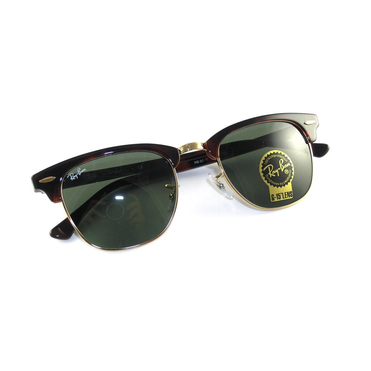 47ba2797f37 Shop Ray-Ban Clubmaster RB 3016 Unisex Tortoise Frame Green Classic Lens  Sunglasses - Free Shipping Today - Overstock - 6852790