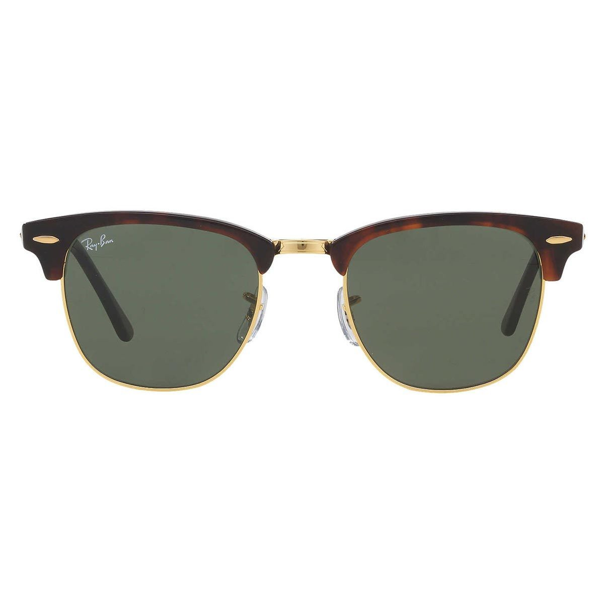 90b95d772ee Shop Ray-Ban Clubmaster RB 3016 Unisex Tortoise Frame Green Classic Lens  Sunglasses - Free Shipping Today - Overstock - 6852790