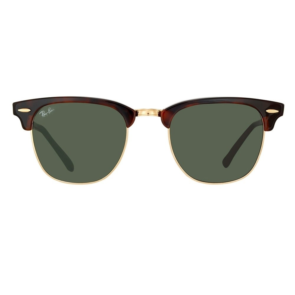 81b4da4041fa Shop Ray-Ban Clubmaster RB 3016 Unisex Tortoise Frame Green Classic Lens  Sunglasses - Free Shipping Today - Overstock - 6852790