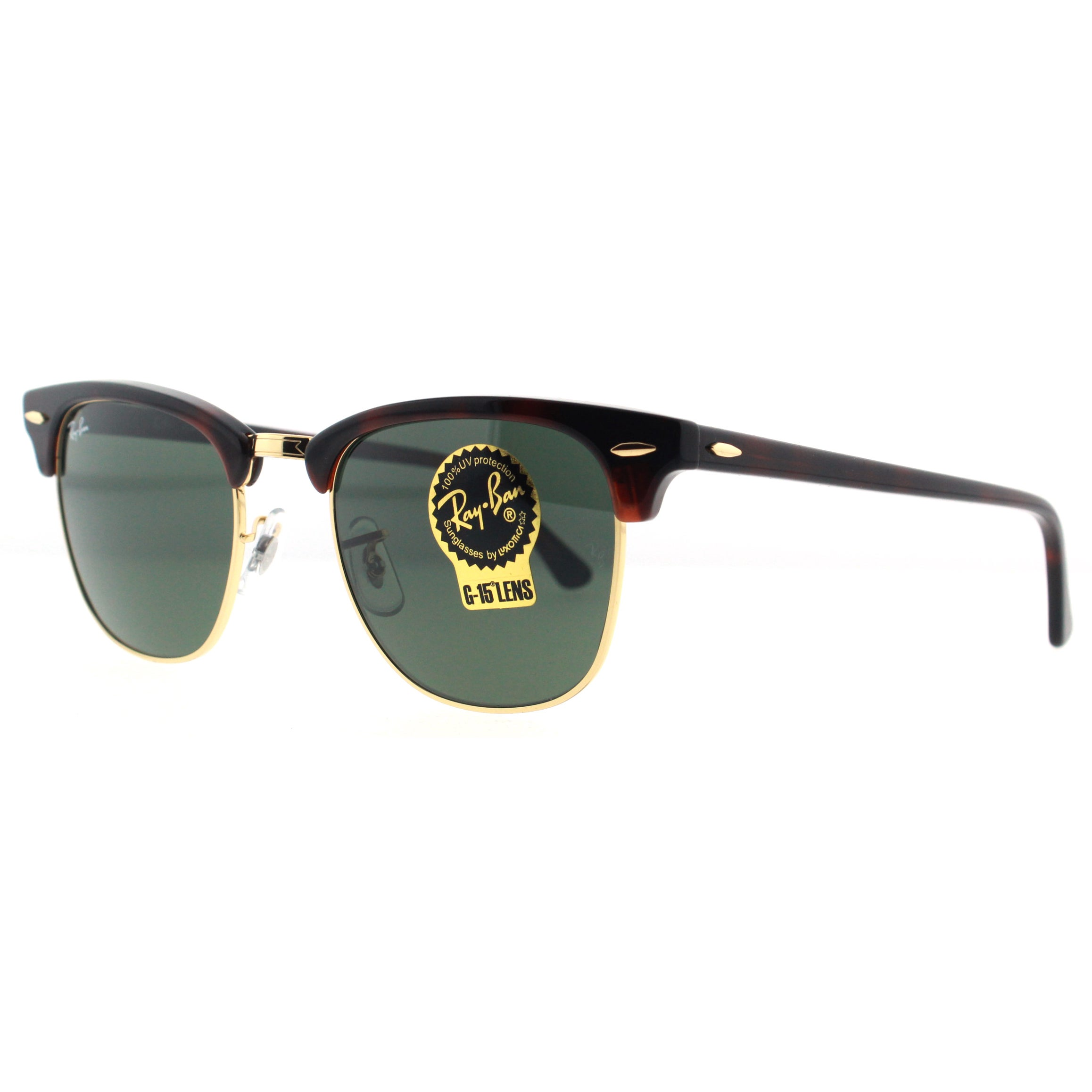 8bf604759bb61 Shop Ray-Ban Clubmaster RB 3016 Unisex Tortoise Frame Green Classic Lens  Sunglasses - Free Shipping Today - Overstock - 6852790