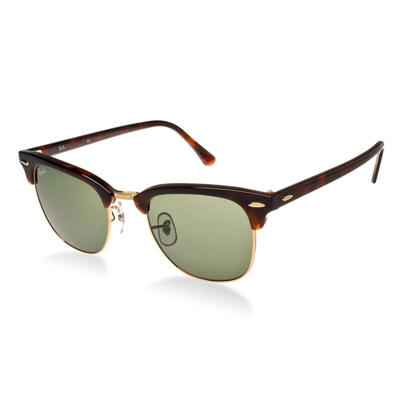 f90d72e77 Ray-Ban Clubmaster RB 3016 Unisex Tortoise Frame Green Classic Lens  Sunglasses