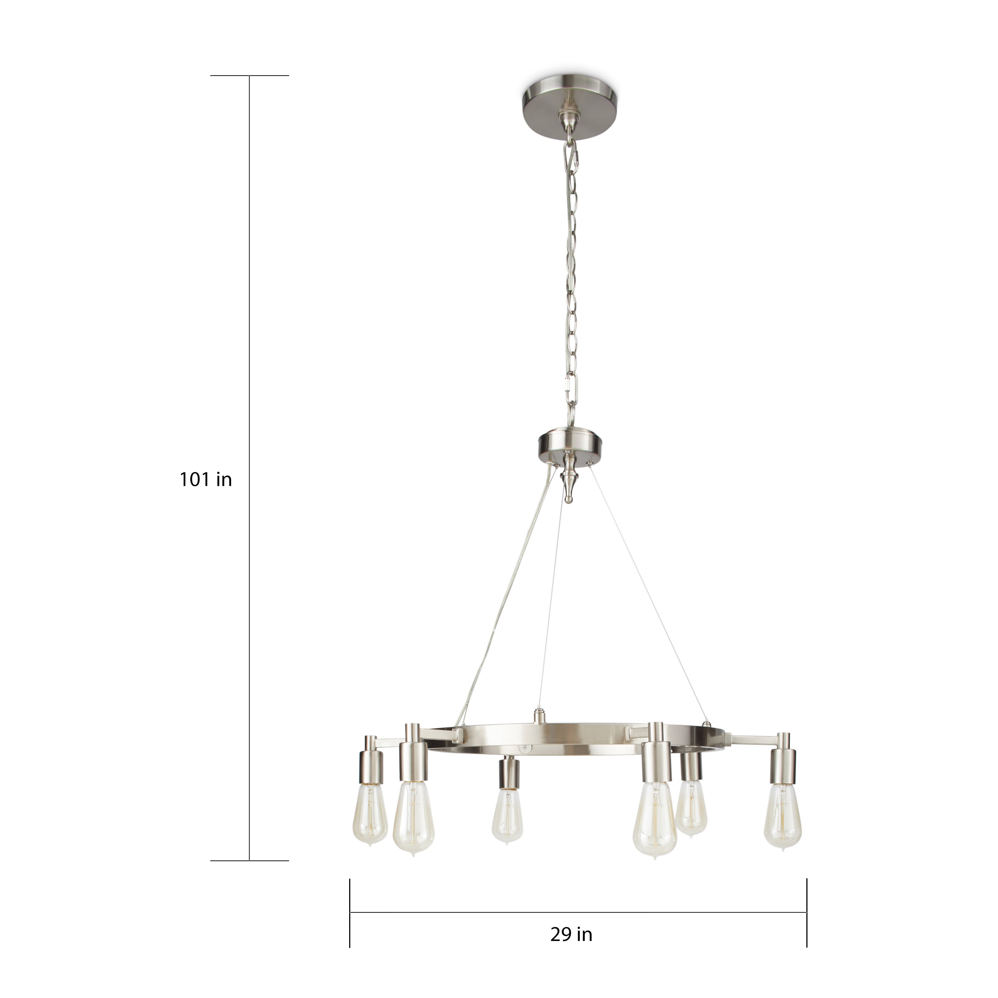 I love living rae brown nickel 6 light chandelier free shipping i love living rae brown nickel 6 light chandelier free shipping today overstock 14430969 arubaitofo Image collections