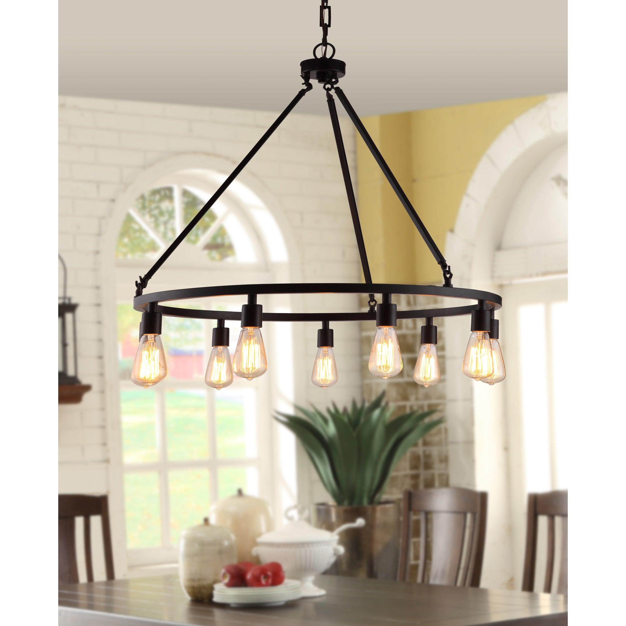 Shea Bronze Edison Bulb 9 light Chandelier Free Shipping Today