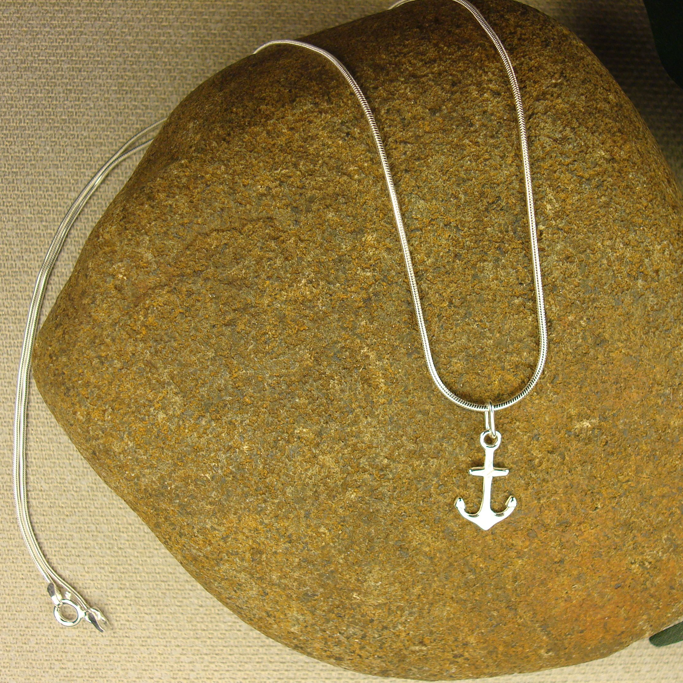 tcw necklace gold tone anchor two jewelry effy pendant diamond seaside