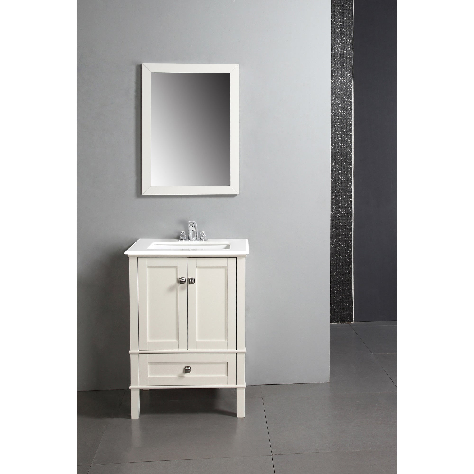 WYNDENHALL Windham Soft White 24 Inch Bath Vanity With 2 Doors, Bottom  Drawer And White Quartz Marble Top   Free Shipping Today   Overstock.com    14477417