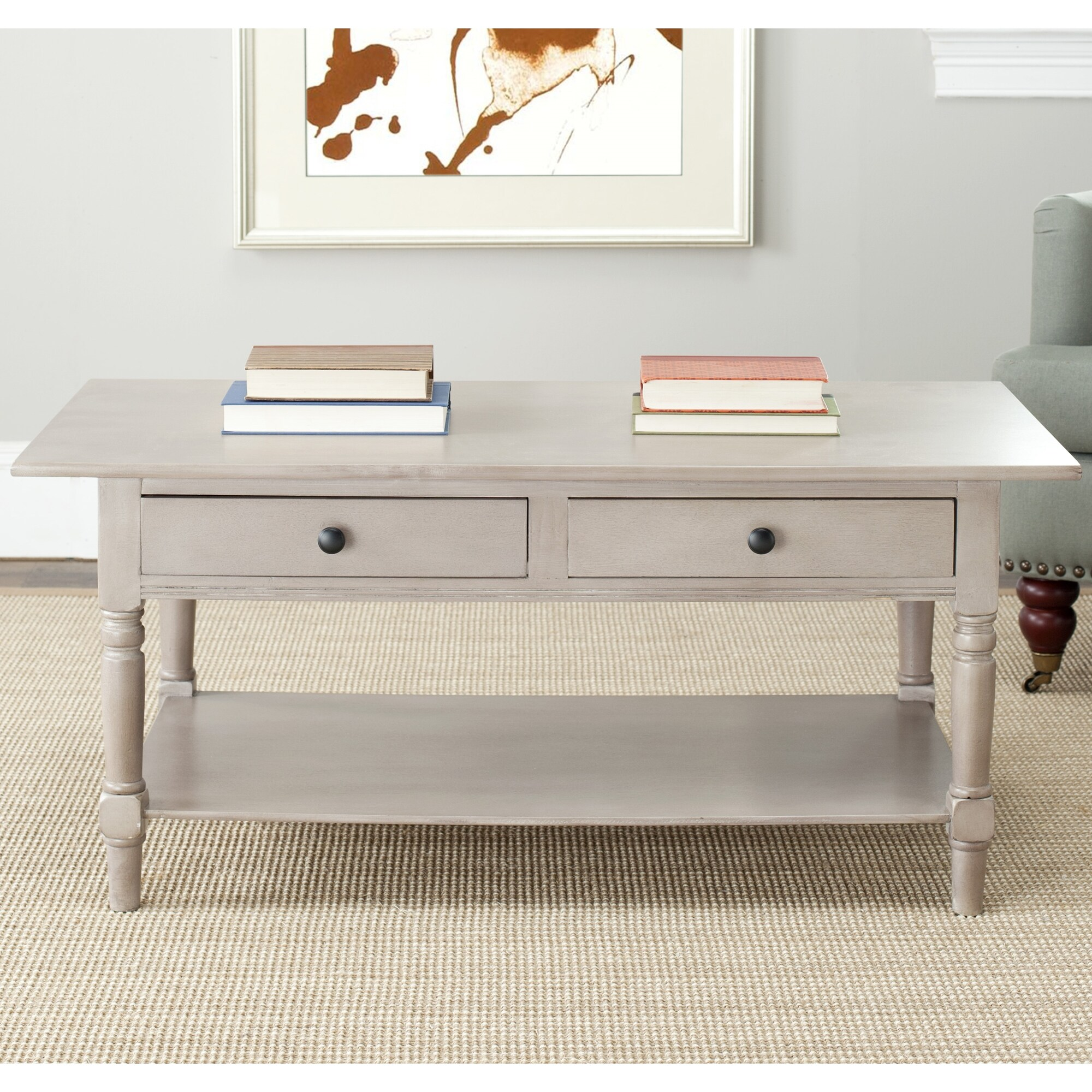 reviews table drawer bungalow with pdx drawers wayfair rose powder coffee hill furniture