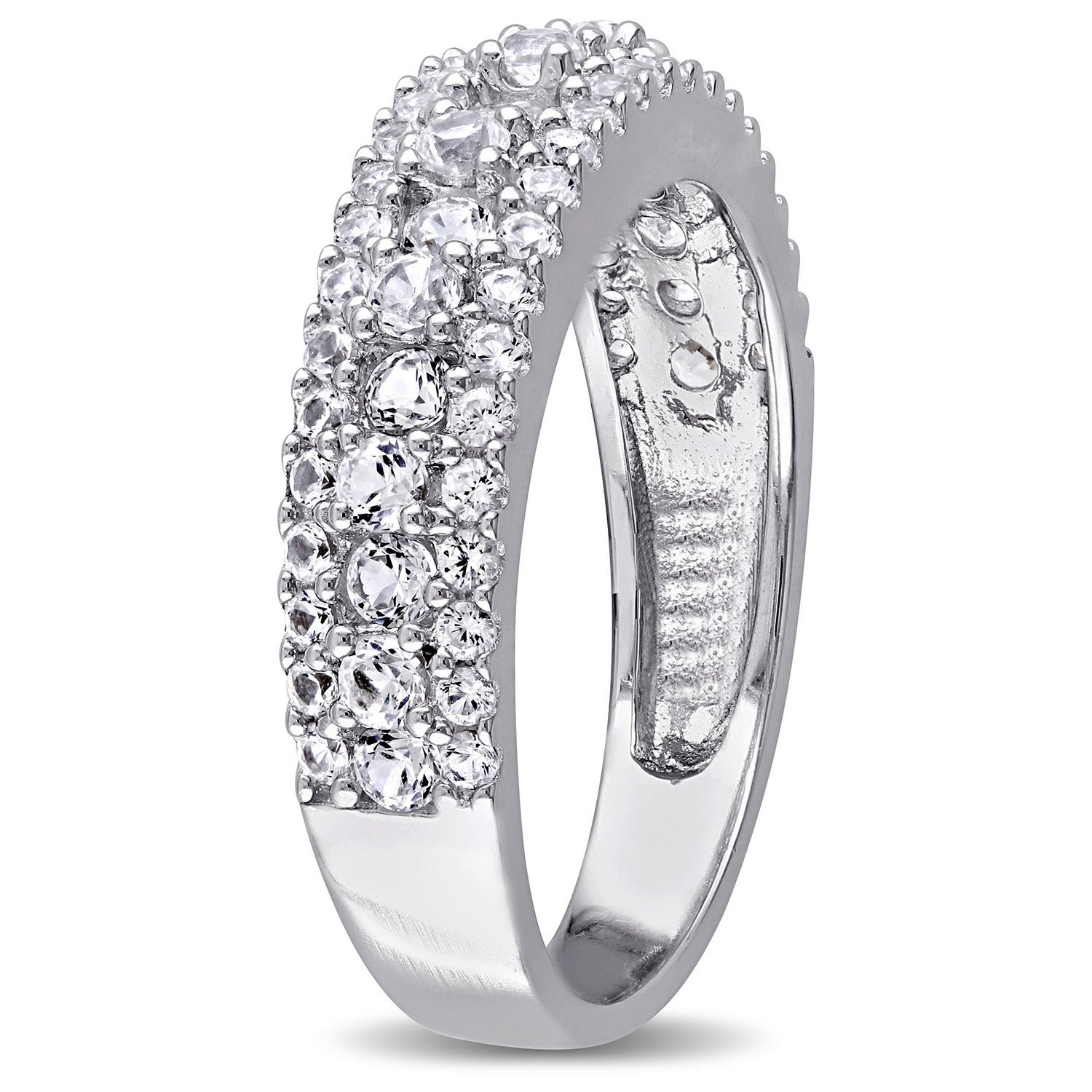 products white bezel band la diamond by design wedding gold ring sapphire scalloped and more in