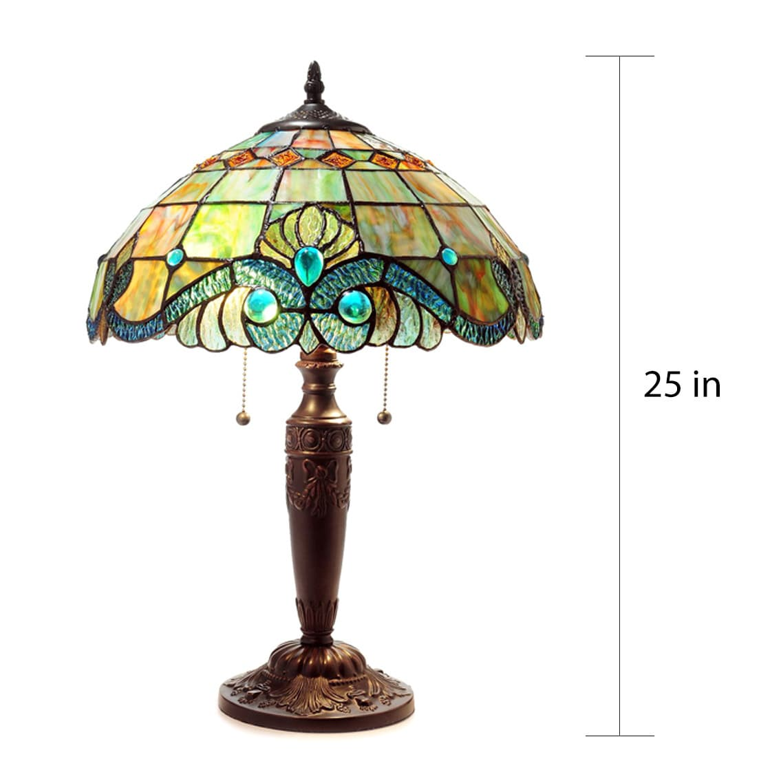 Shop Tiffany Style Pearl Vintage Table Lamp   Free Shipping Today    Overstock.com   6982720