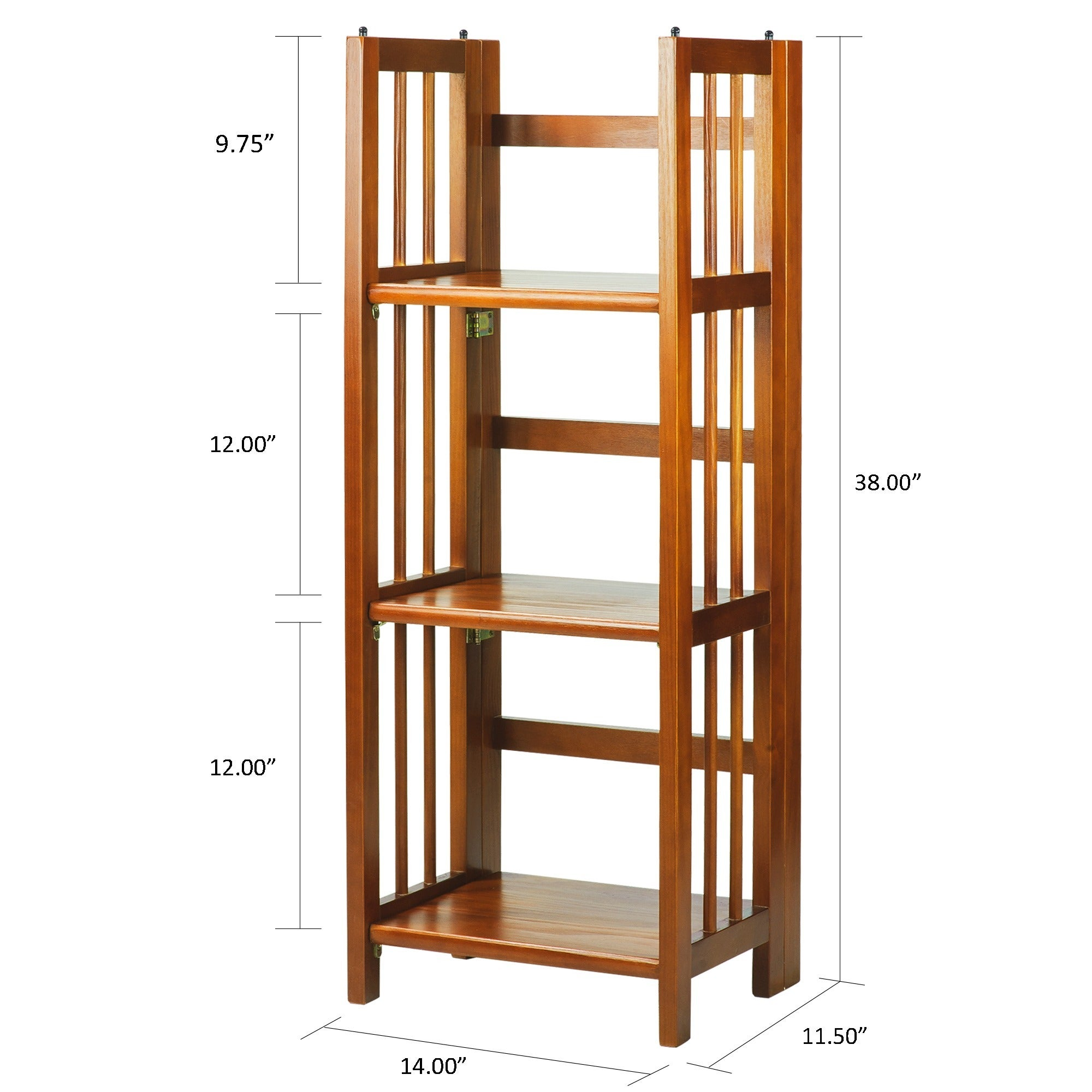 3 Shelf Folding 14 Inch Wide Bookcase Free Shipping Today 6986462