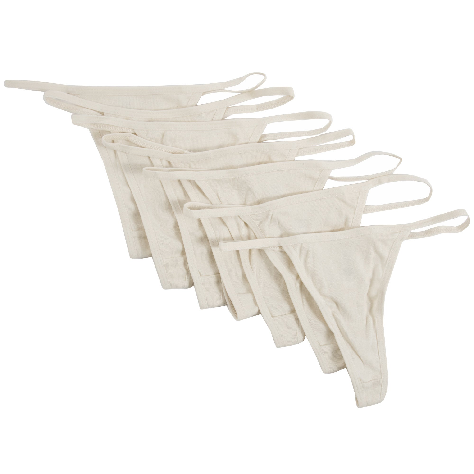 6c99c1316 Shop American Apparel Women s Organic Baby Rib Thongs (7-Pack) (XL) - Free  Shipping On Orders Over  45 - Overstock - 6986649