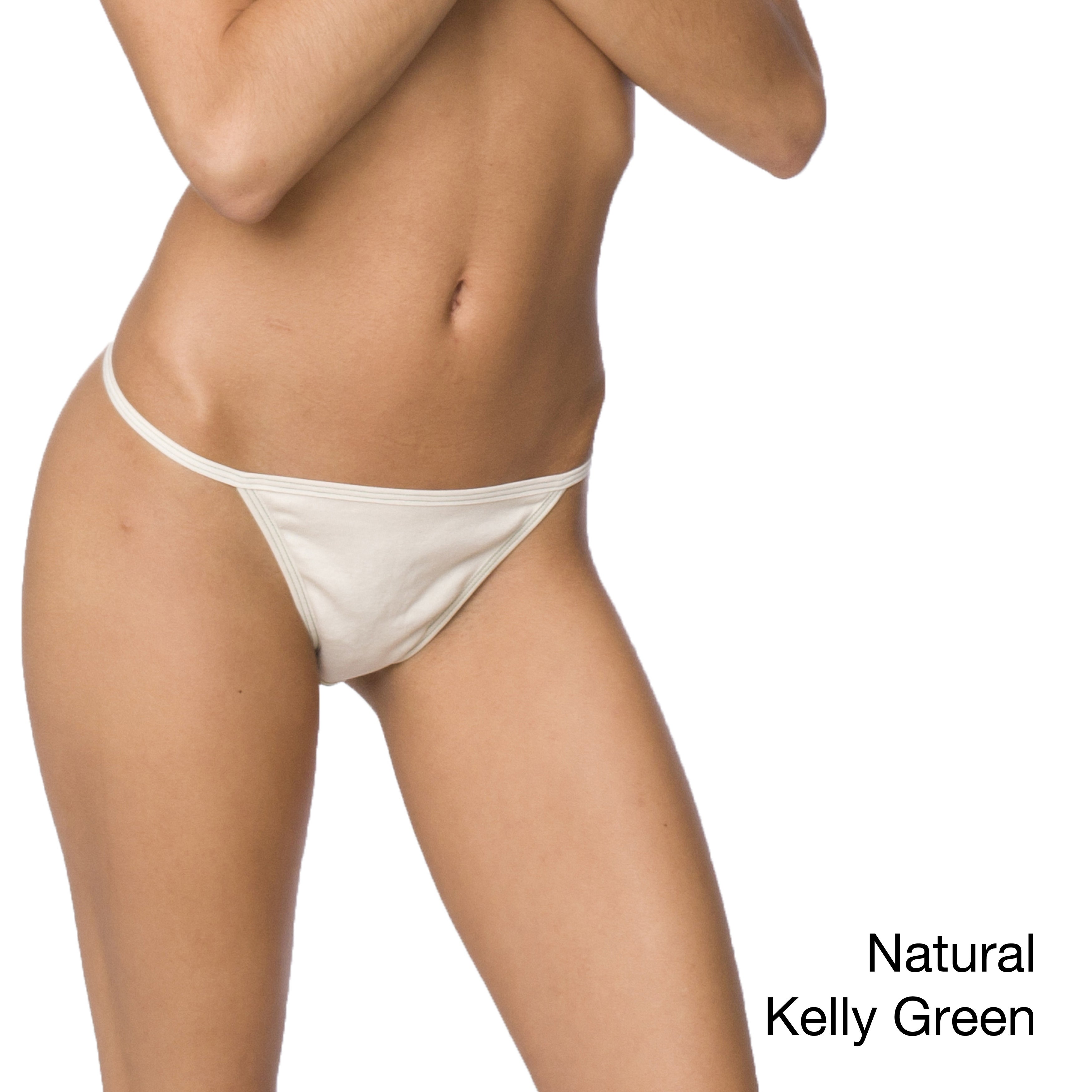 d1d6a19ef Shop American Apparel Women s Organic Baby Rib Thong - Free Shipping On  Orders Over  45 - Overstock - 6986650