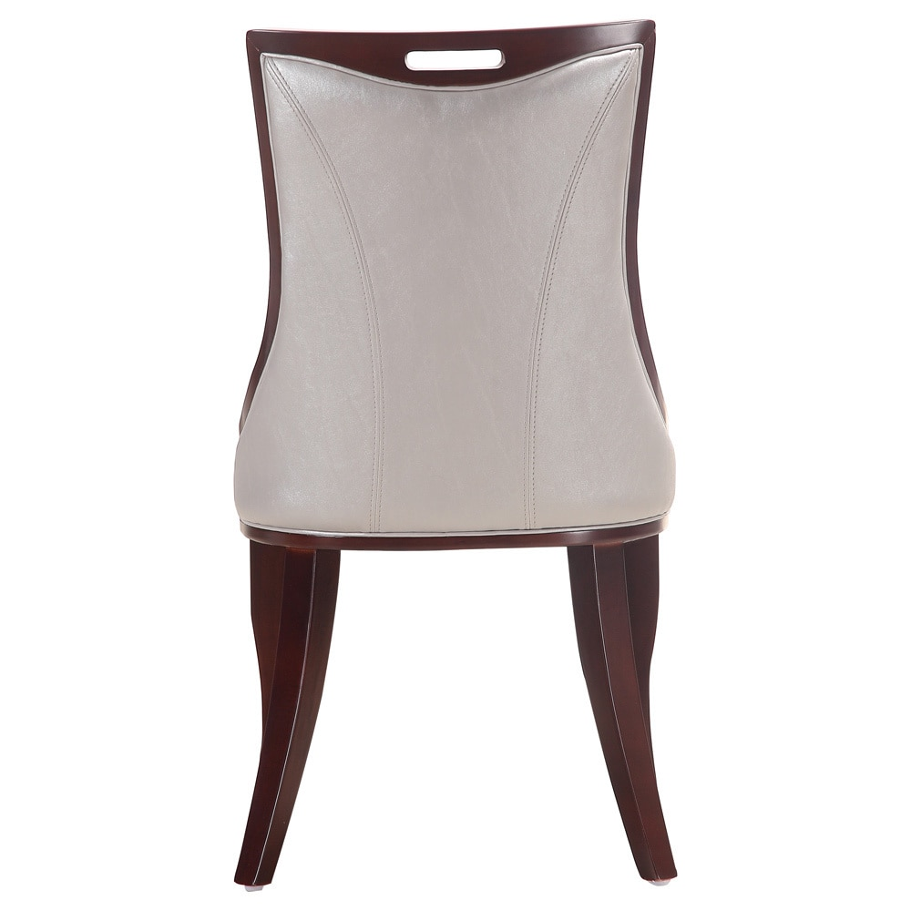 Shop Emperor Silver Leather Dining Chairs (Set Of 2)   Free Shipping Today    Overstock.com   6990733