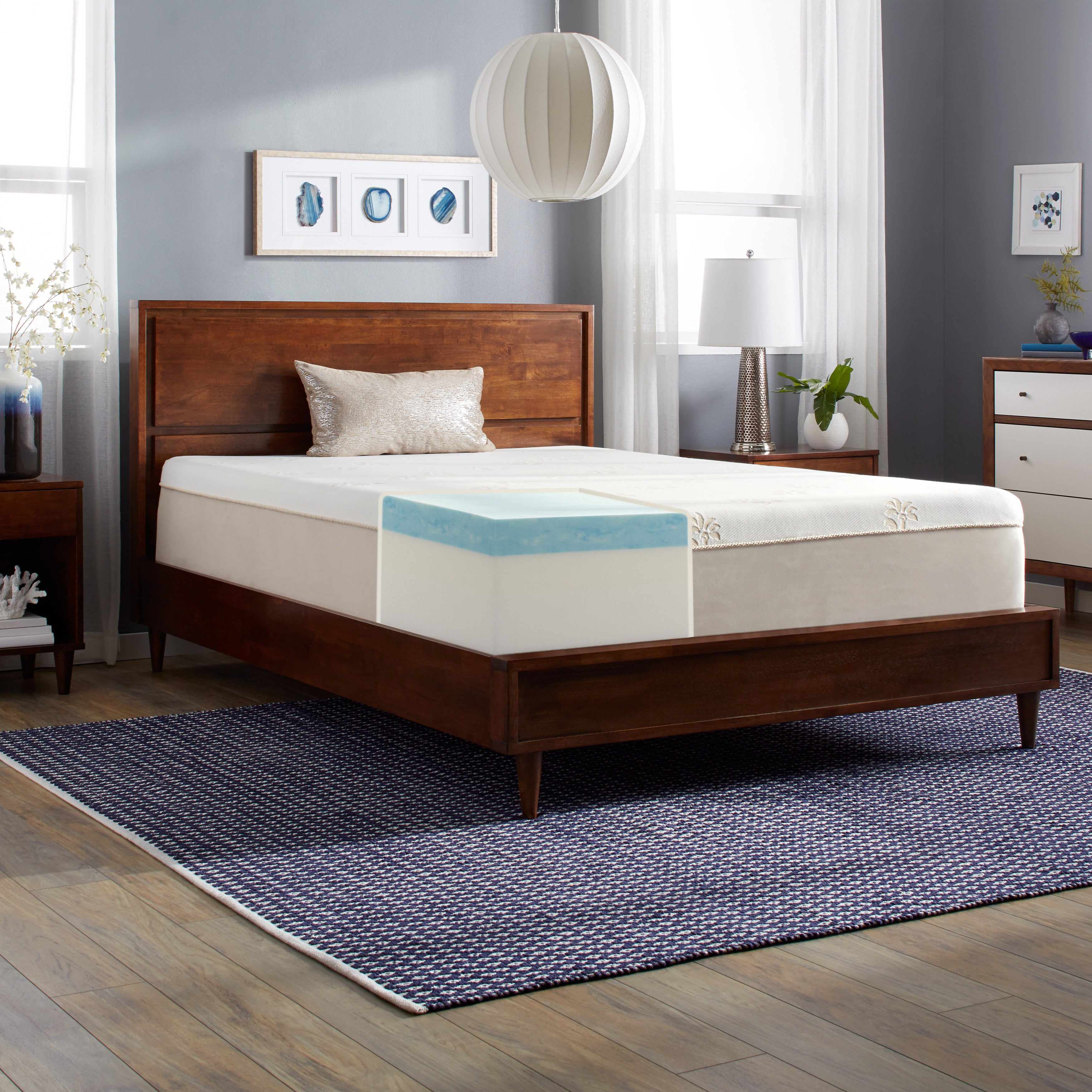 slumber solutions gel memory foam 14 inch queen mattress free