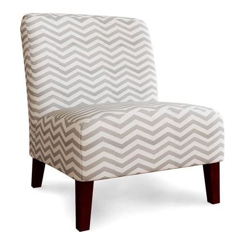Superbe Shop Anna Grey/ White Chevron Accent Chair   Free Shipping Today    Overstock.com   7009146