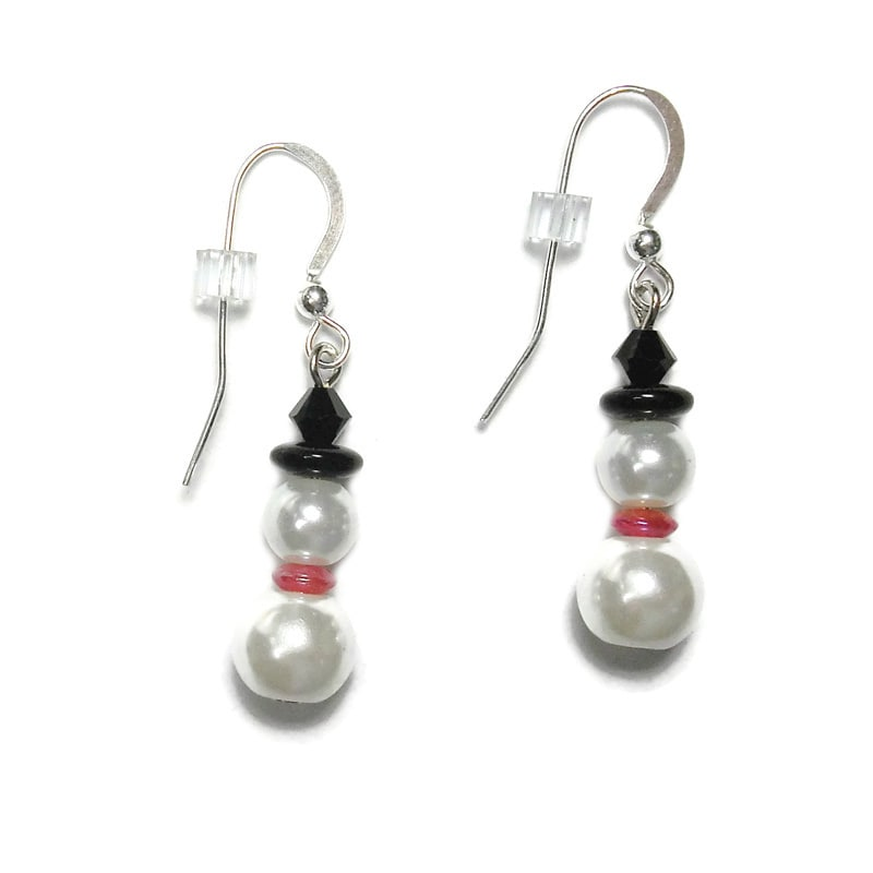 Handmade Jewelry By Dawn Gl Pearl Snowman Earrings Usa On Free Shipping Orders Over 45 7011042