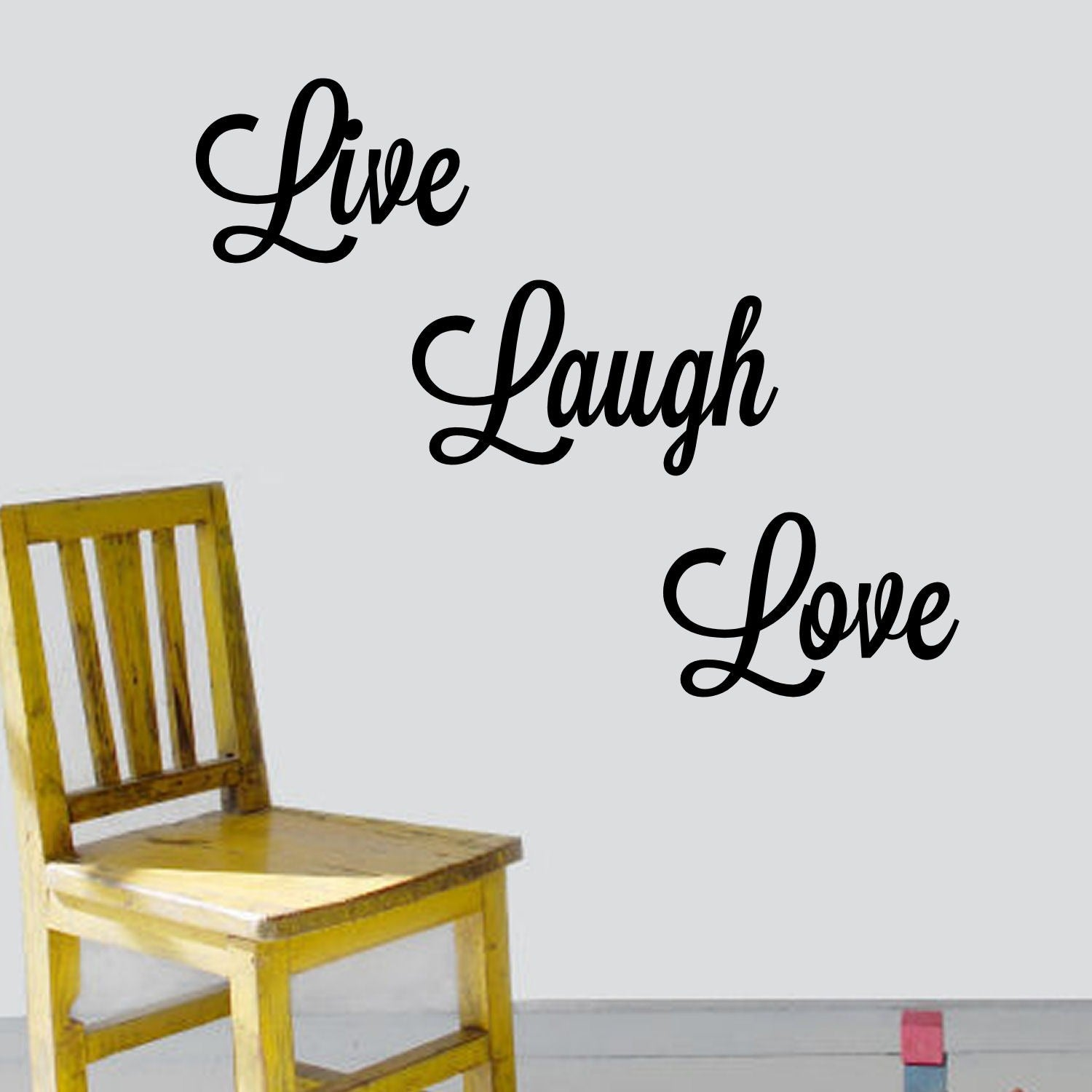 U0027Live, Laugh, Loveu0027 Vinyl Wall Art Decal   Free Shipping On Orders Over $45    Overstock   14524573