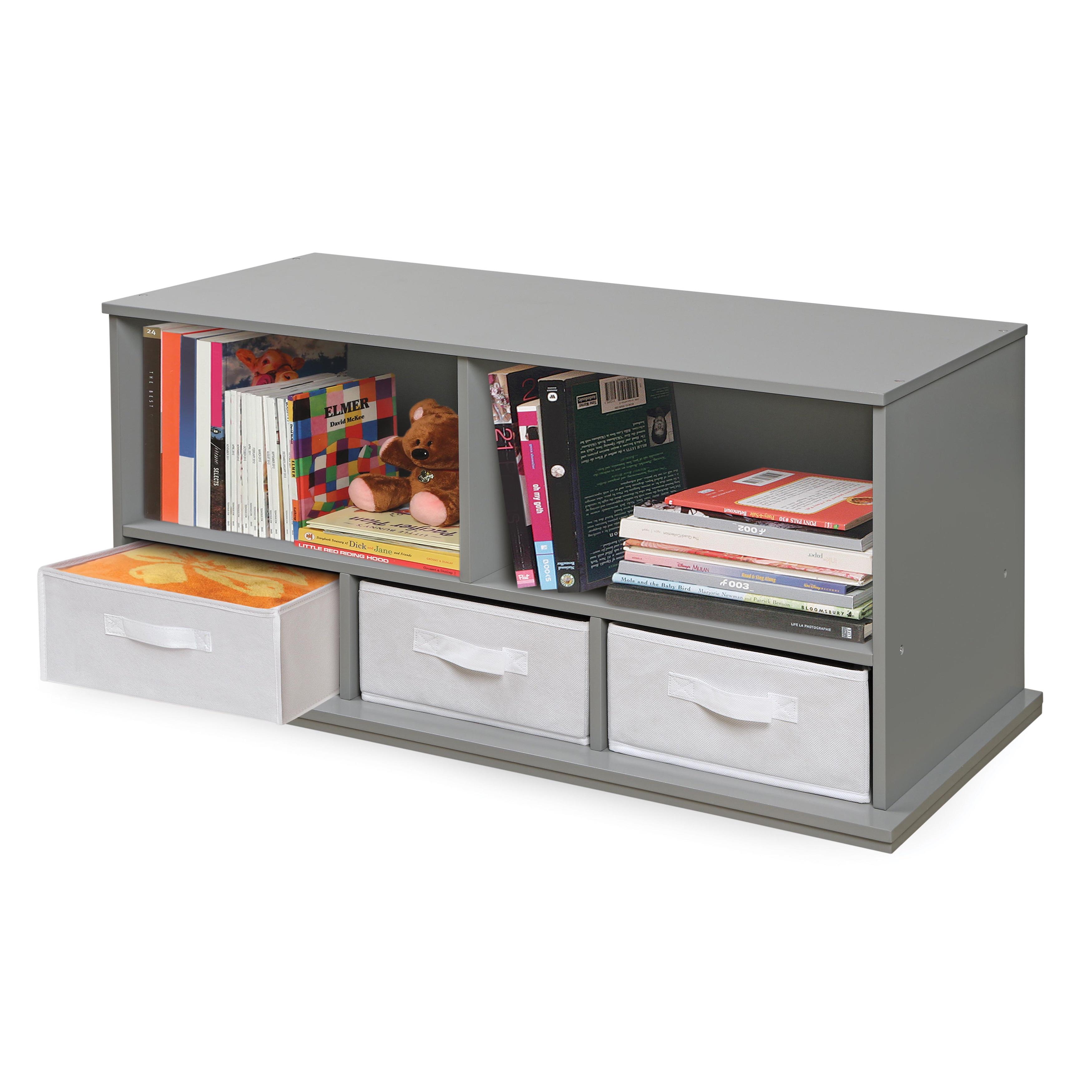 Storage Ideas, Amusing White Cubby Storage Decorative Storage Bins Badger  Basket Three Bin Storage Cubby ...