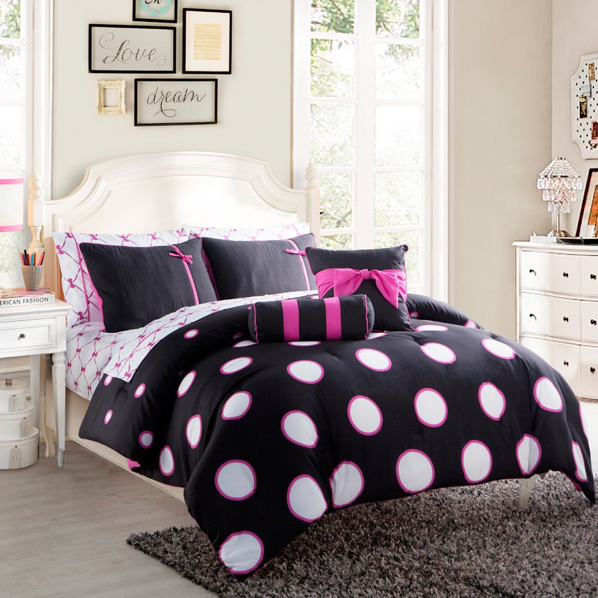 Shop VCNY Sophie Contemporary 10 Piece Bed In A Bag With Sheet Set   On  Sale   Free Shipping Today   Overstock.com   7022455