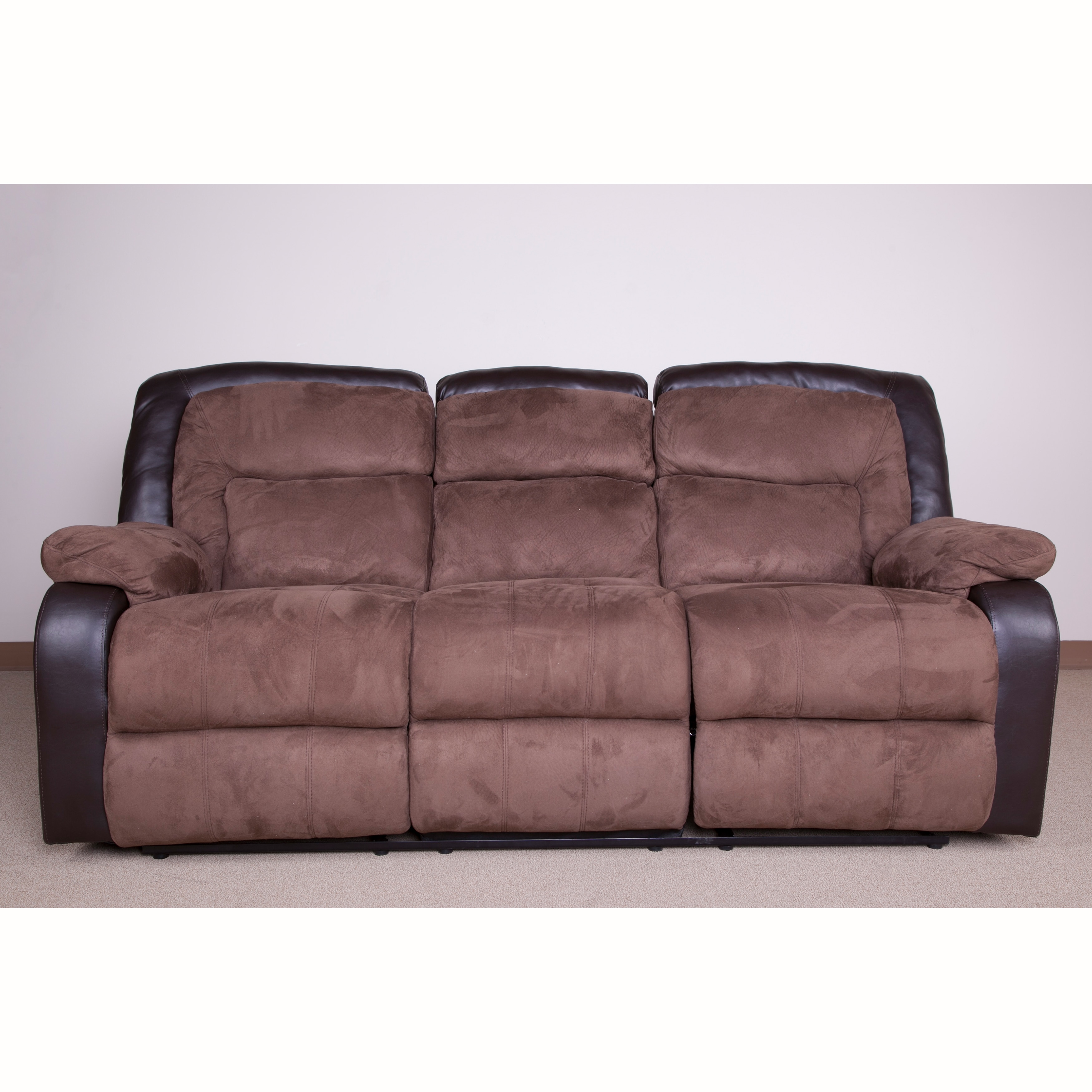 Frank Chocolate Brown Polyester Sofa