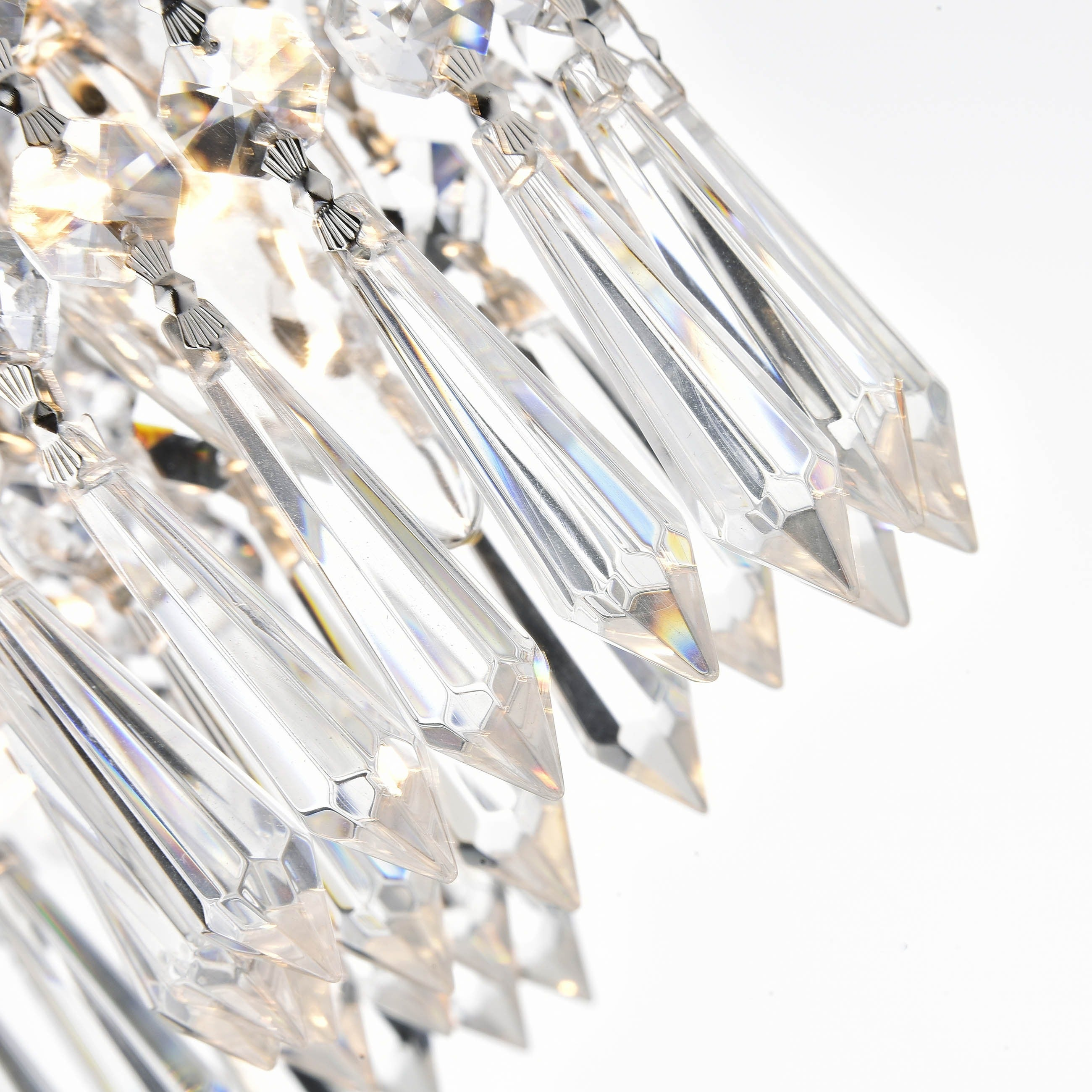 crystal flush mount chandelier. Monique Chrome And Crystal Flush Mount Chandelier - Free Shipping Today Overstock 14531422