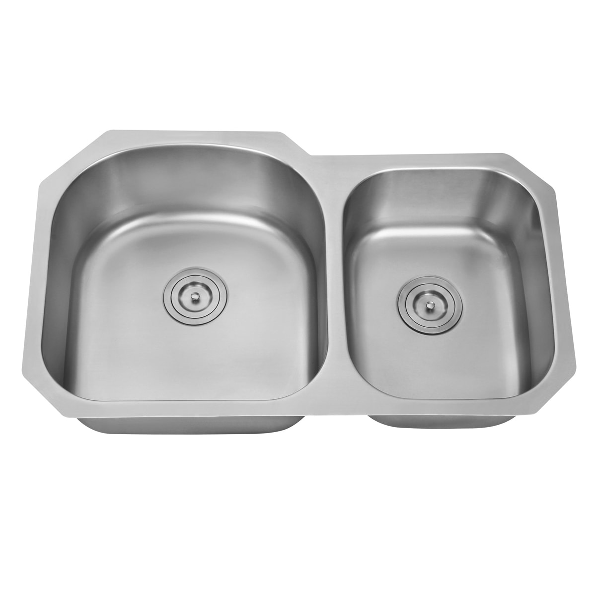 Ruvati 34 Inch Undermount 60 40 Double Bowl 16 Gauge Stainless Steel Kitchen Sink Rvm4600 Free Shipping Today 7029821