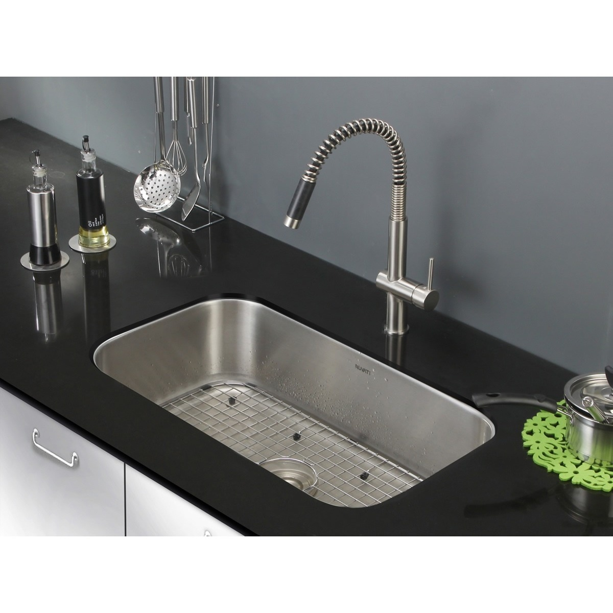 Undermount Kitchen Sink With Drainer Ruvati 32 inch undermount 16 gauge stainless steel kitchen sink ruvati 32 inch undermount 16 gauge stainless steel kitchen sink single bowl rvm4200 free shipping today overstock 14534056 workwithnaturefo
