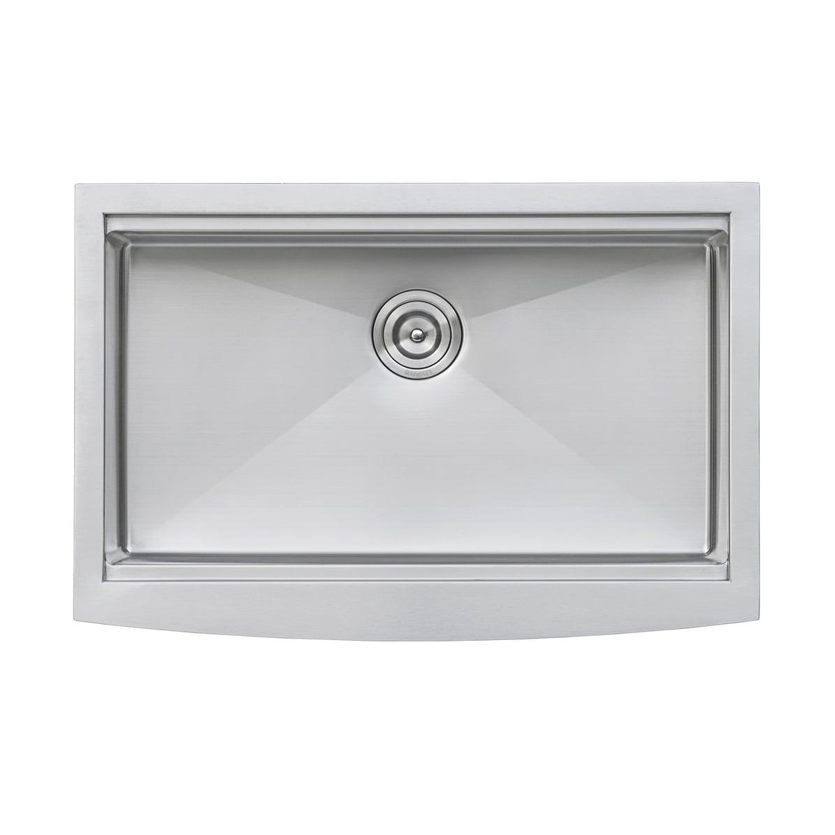 Ruvati 30-inch Apron-front Workstation Farmhouse Kitchen Sink 16 ...