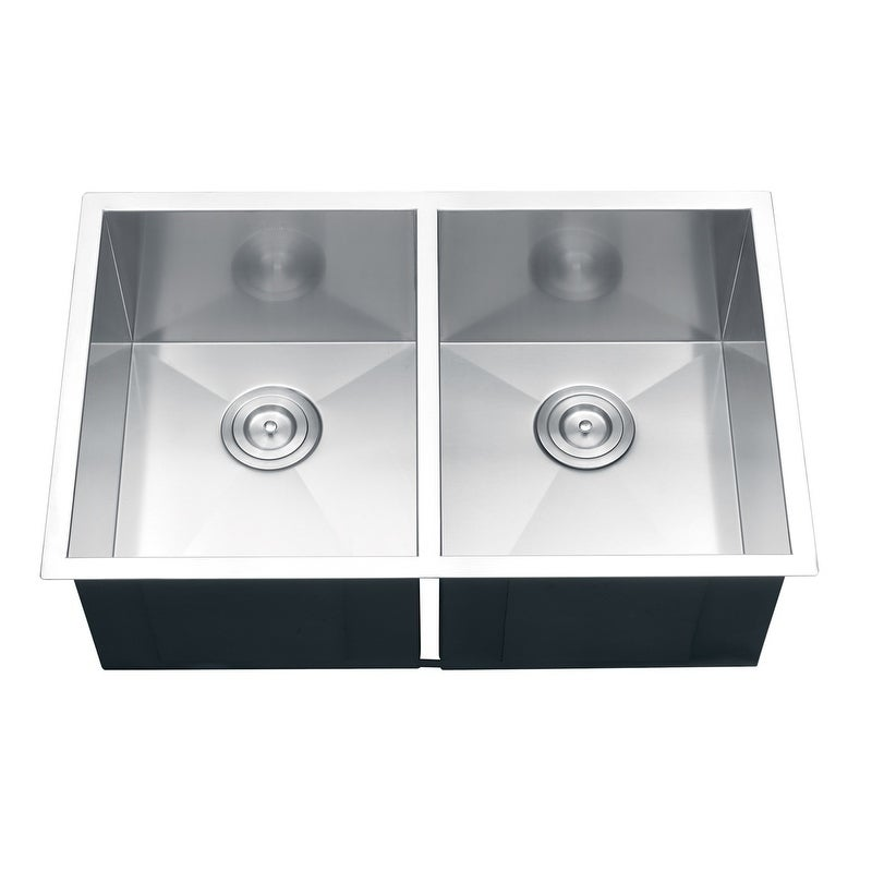 Ruvati 16-gauge Stainless Steel 30-inch Double Bowl Undermount ...