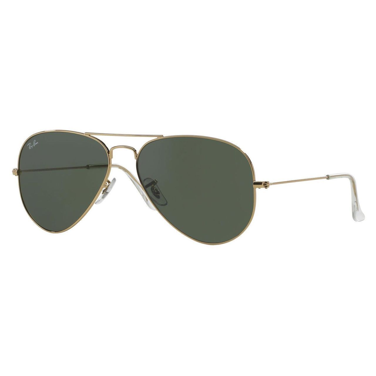 Shop Ray-Ban Aviator RB3025 Unisex Gold Frame Green Lens Sunglasses ... d4736509ce