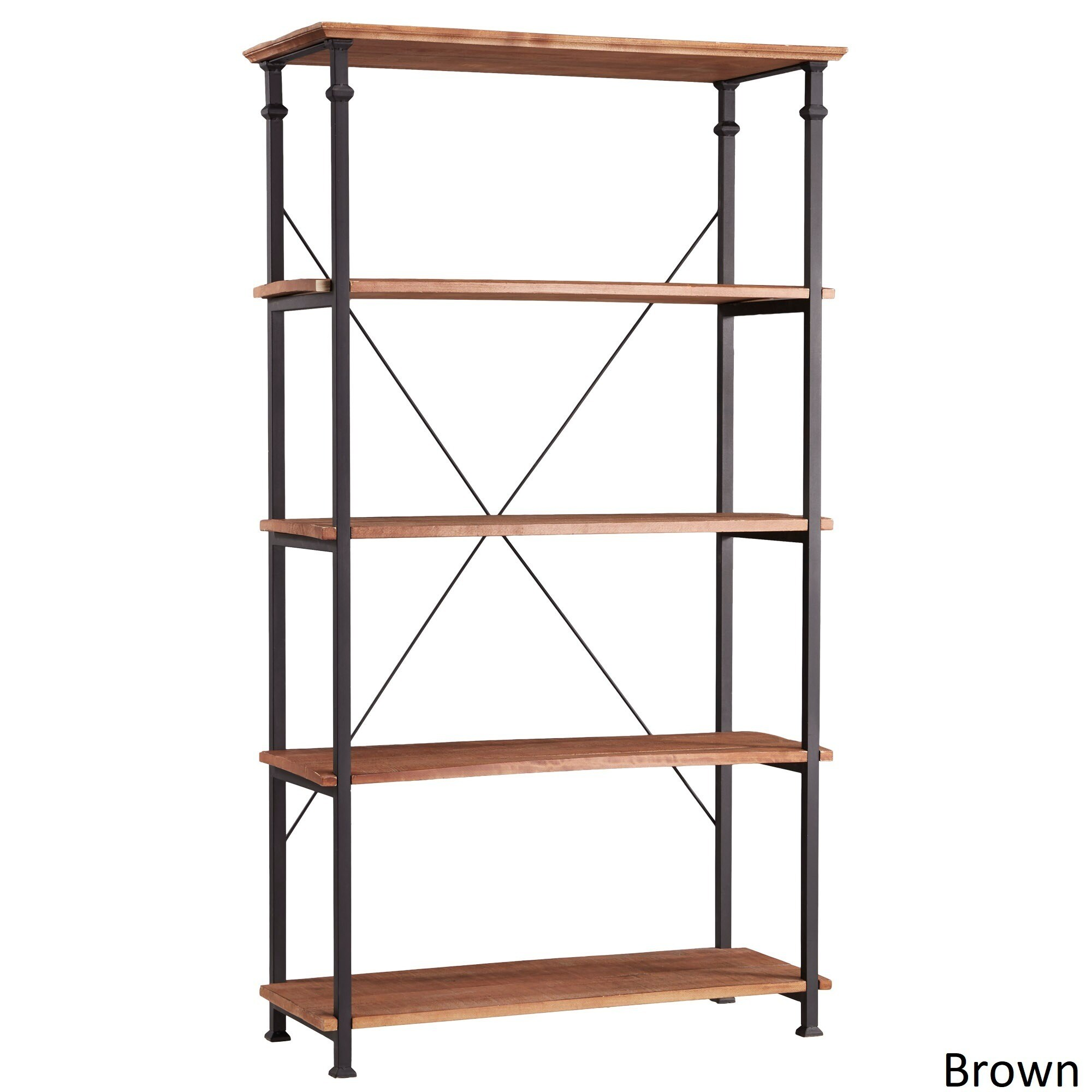 Shop Myra Vintage Industrial Modern Rustic 40 Inch Bookcase By INSPIRE Q Classic