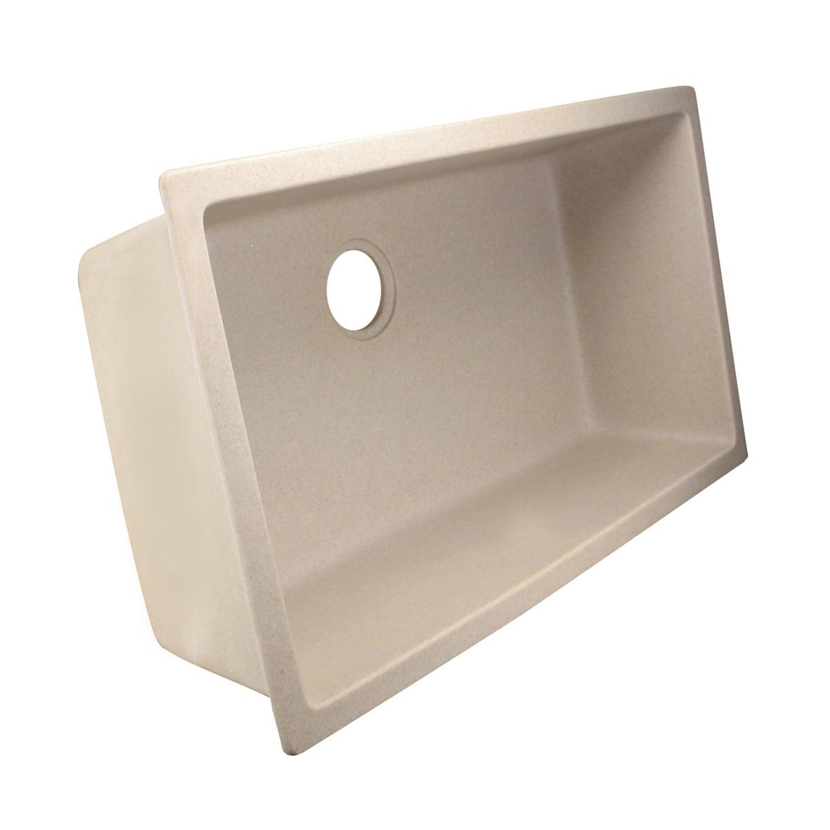 Shop Highpoint Collection Single Bowl Granite Composite Undermount ...