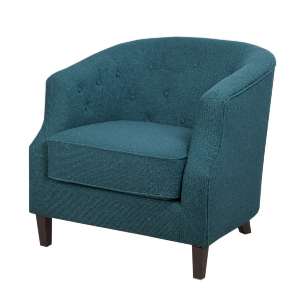 Shop Ansley Peacock Blue Tub Chair - Free Shipping Today - Overstock ...