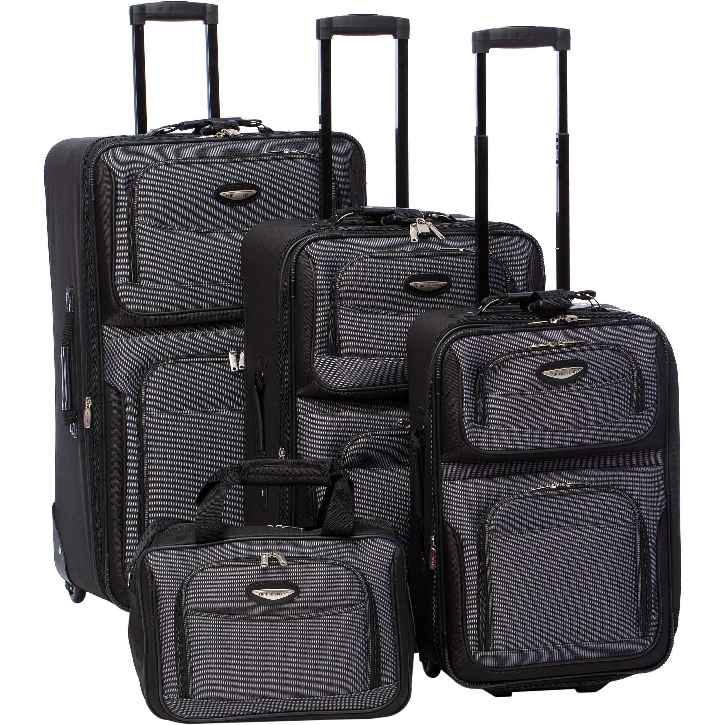 a8d20f80e8c4 Shop Travel Select by Traveler s Choice Amsterdam 4-piece Luggage Set - Free  Shipping Today - Overstock - 711428