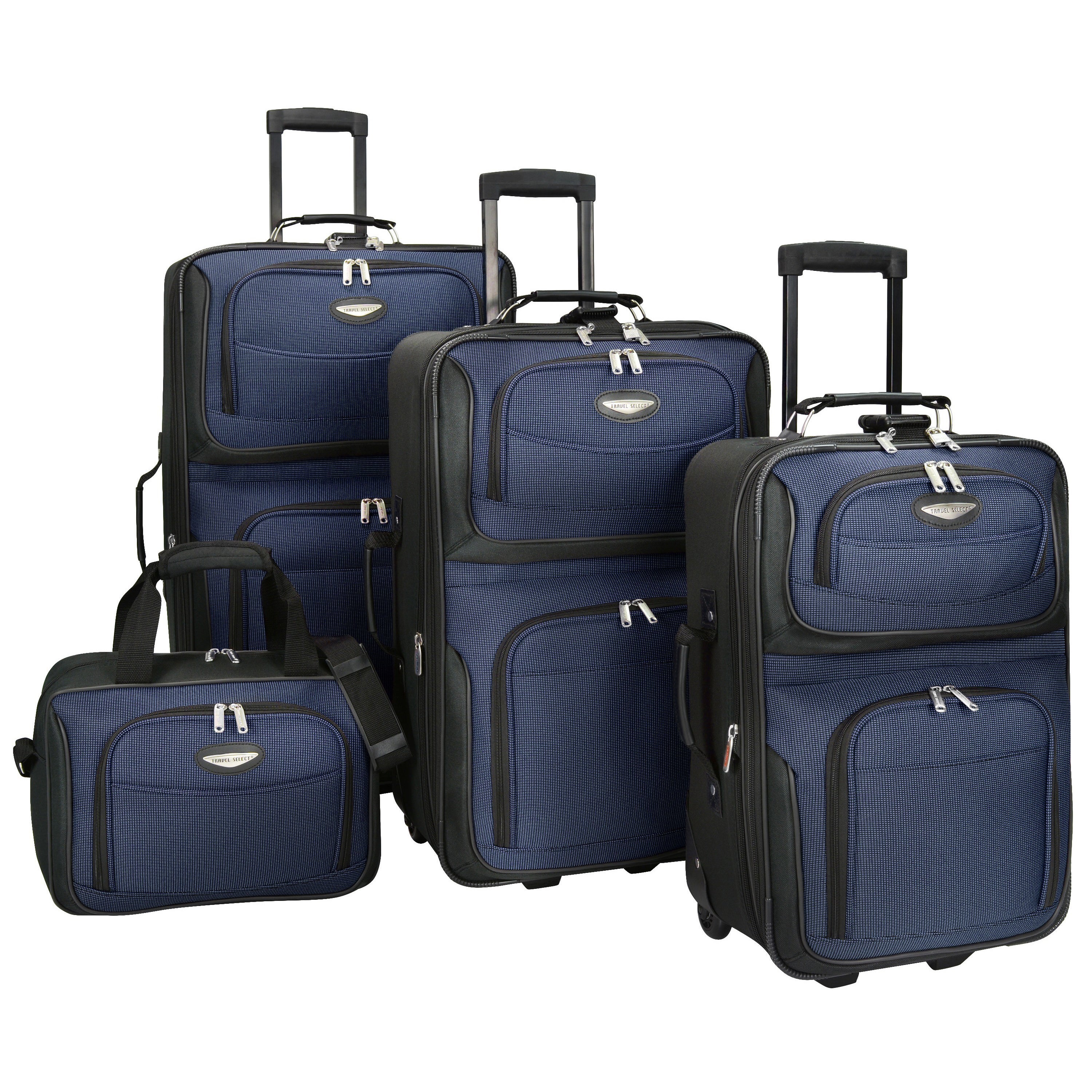 Travel Select By Traveler S Choice Amsterdam 4 Piece Luggage Set Free Shipping Today 711428