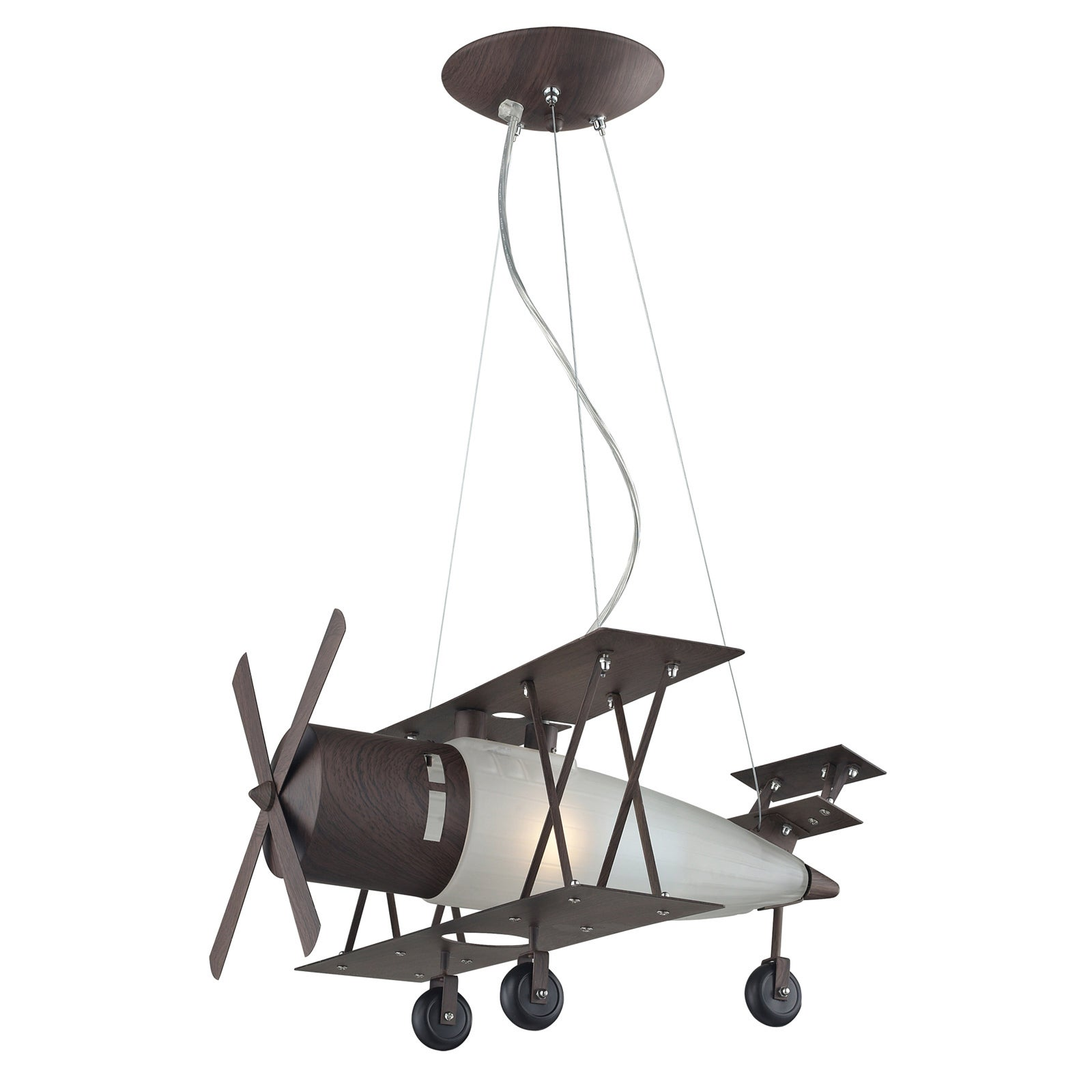Elk lighting bi plane 1 light walnut pendant