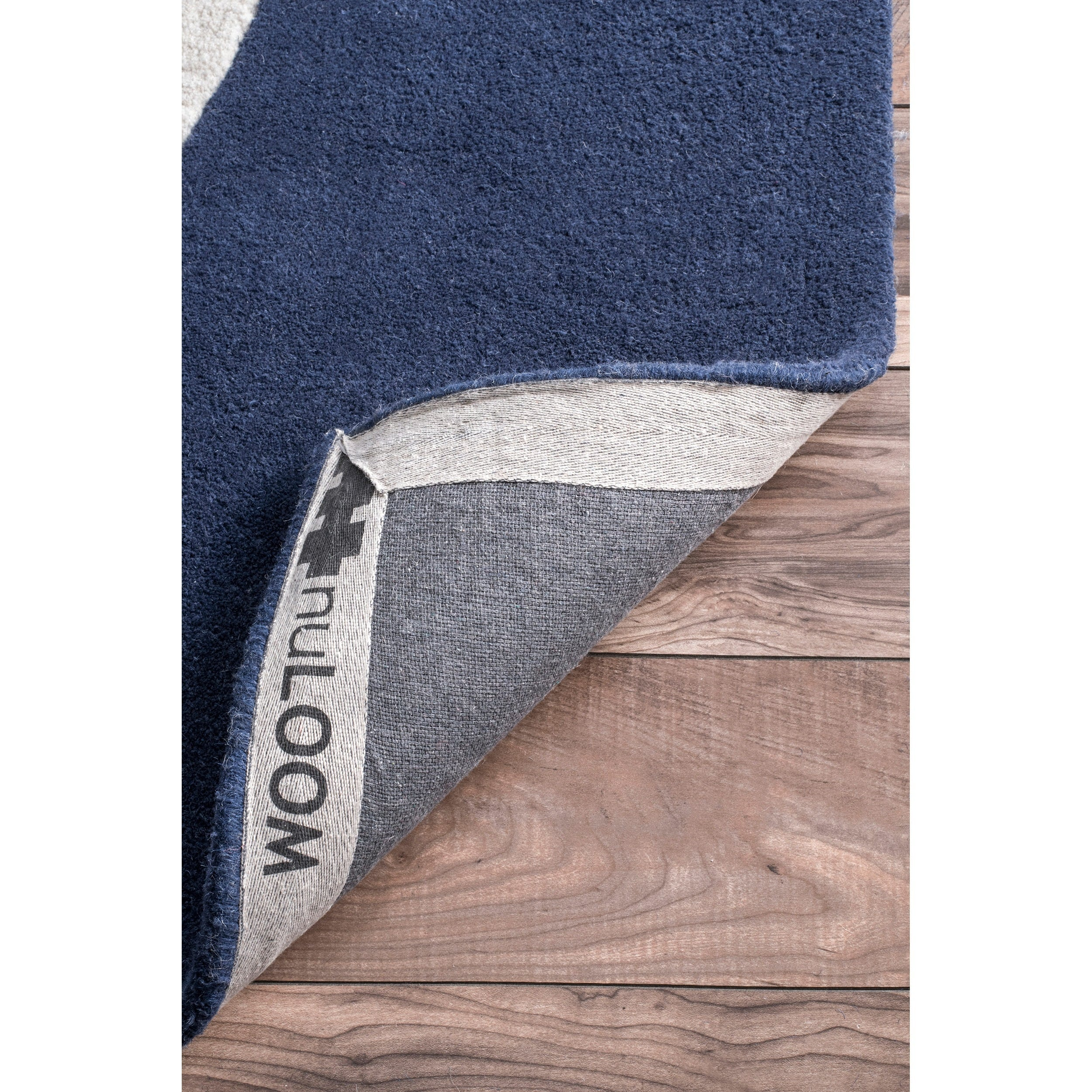 Nuloom Handmade Anchor Navy Wool Rug 5 X 8 Free Shipping Today Com 14629899