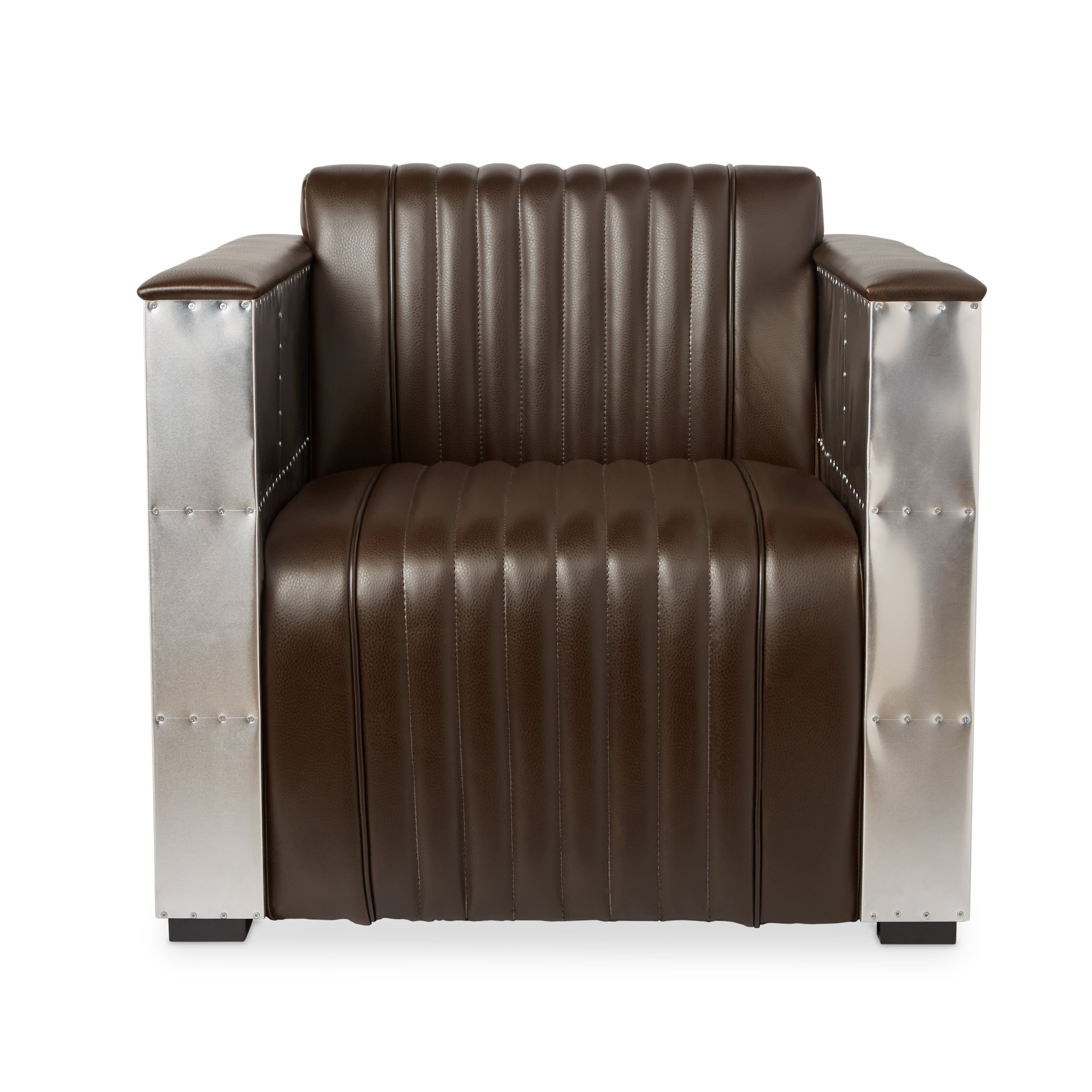 Genial Shop Jasper Laine Vindicator Modern Dark Brown Leather Chair   Free  Shipping Today   Overstock.com   7153970