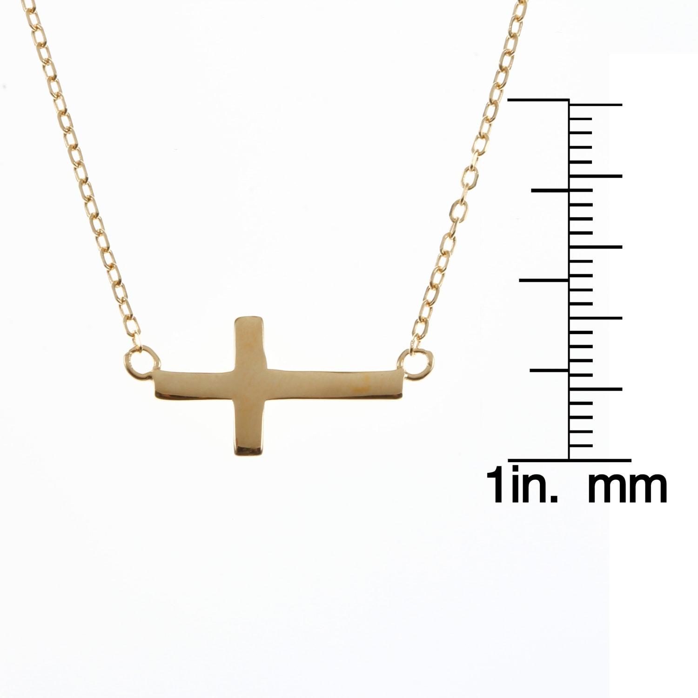 16b9c40ddcf21 La Preciosa Sterling Silver Sideways Cross Necklace