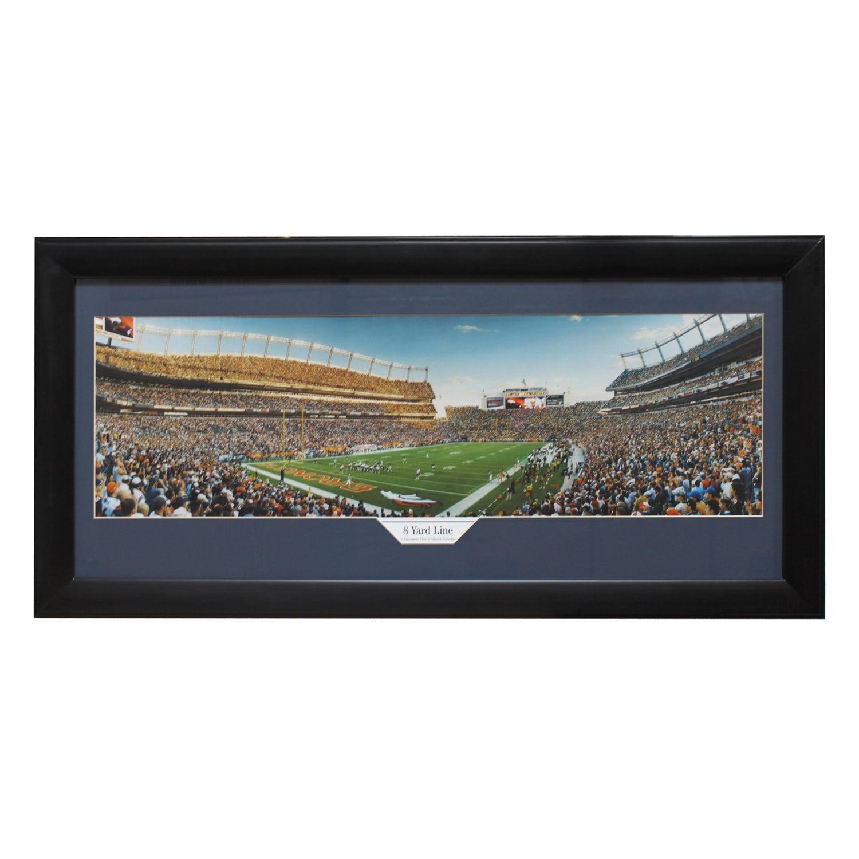 Denver Broncos \'8 Yard Line\' Panoramic Frame - Free Shipping Today ...