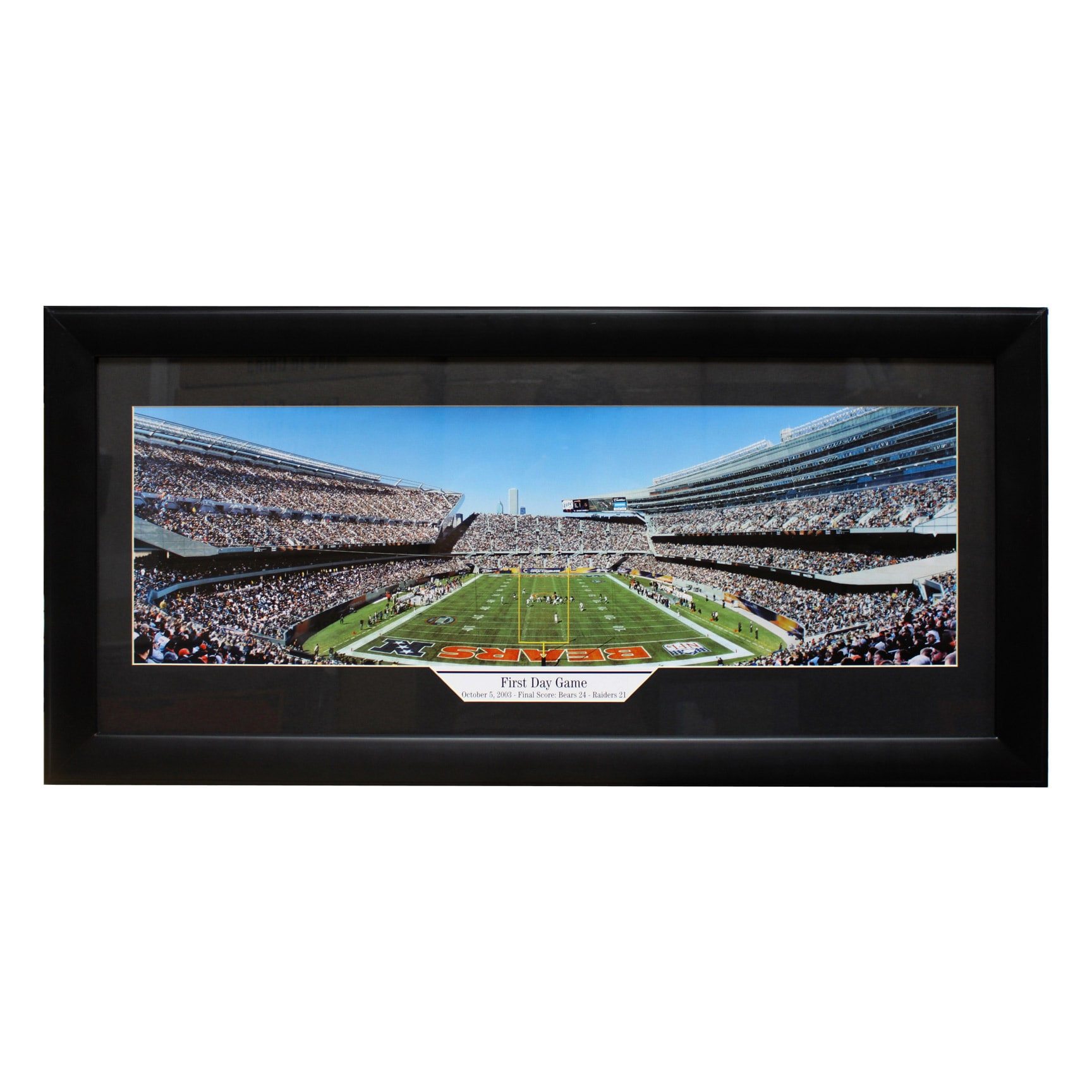 Shop Chicago Bears Soldier Field \'First Day Game\' Panoramic Frame ...
