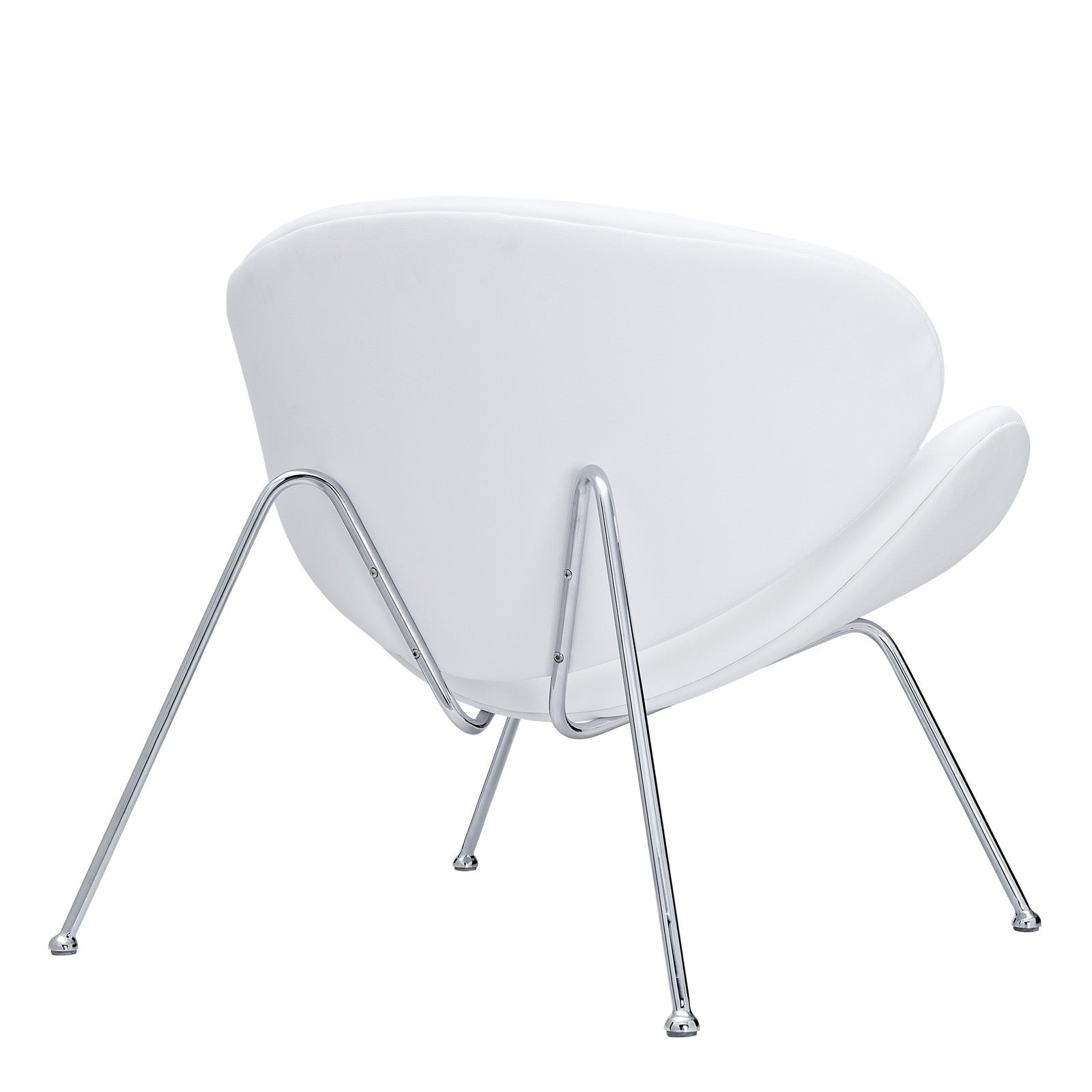shop nutshell white vinyl lounge chair on sale free shipping