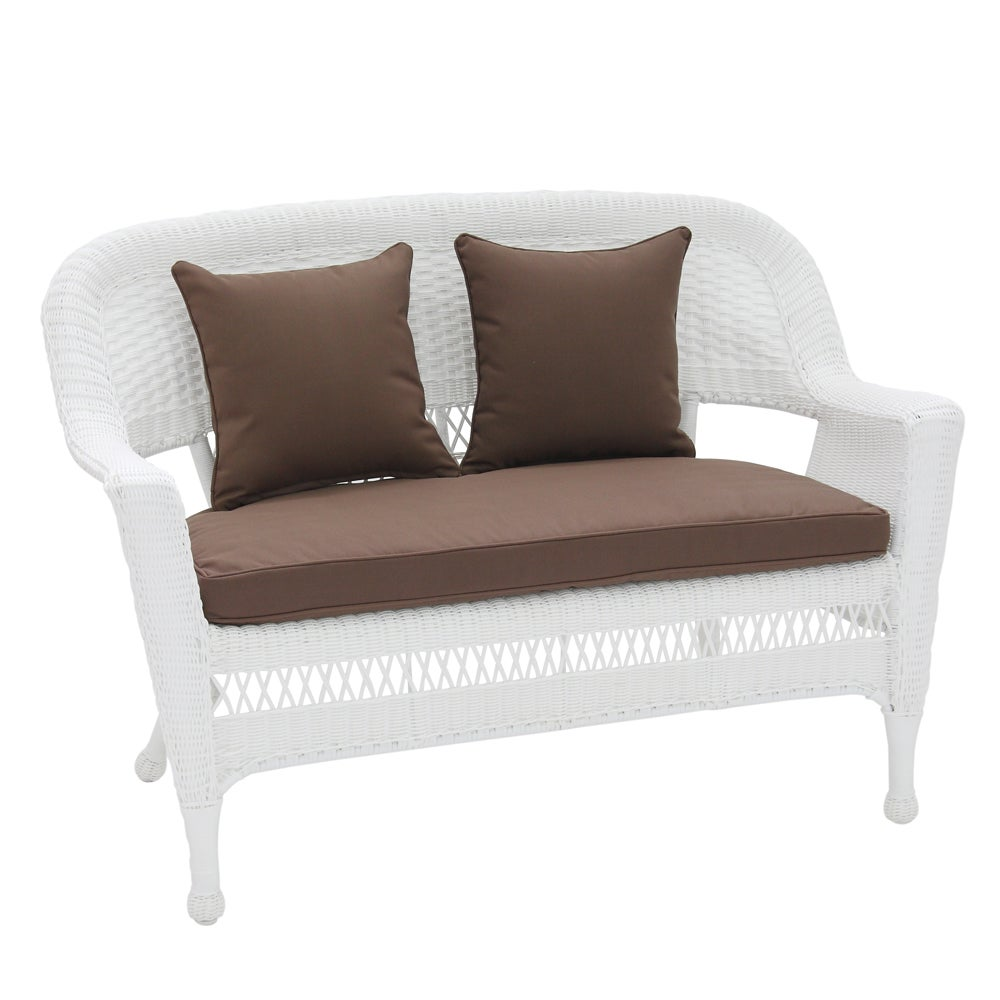 Ordinaire Shop Patio Loveseat Cushion With Pillows   Free Shipping Today    Overstock.com   7156962