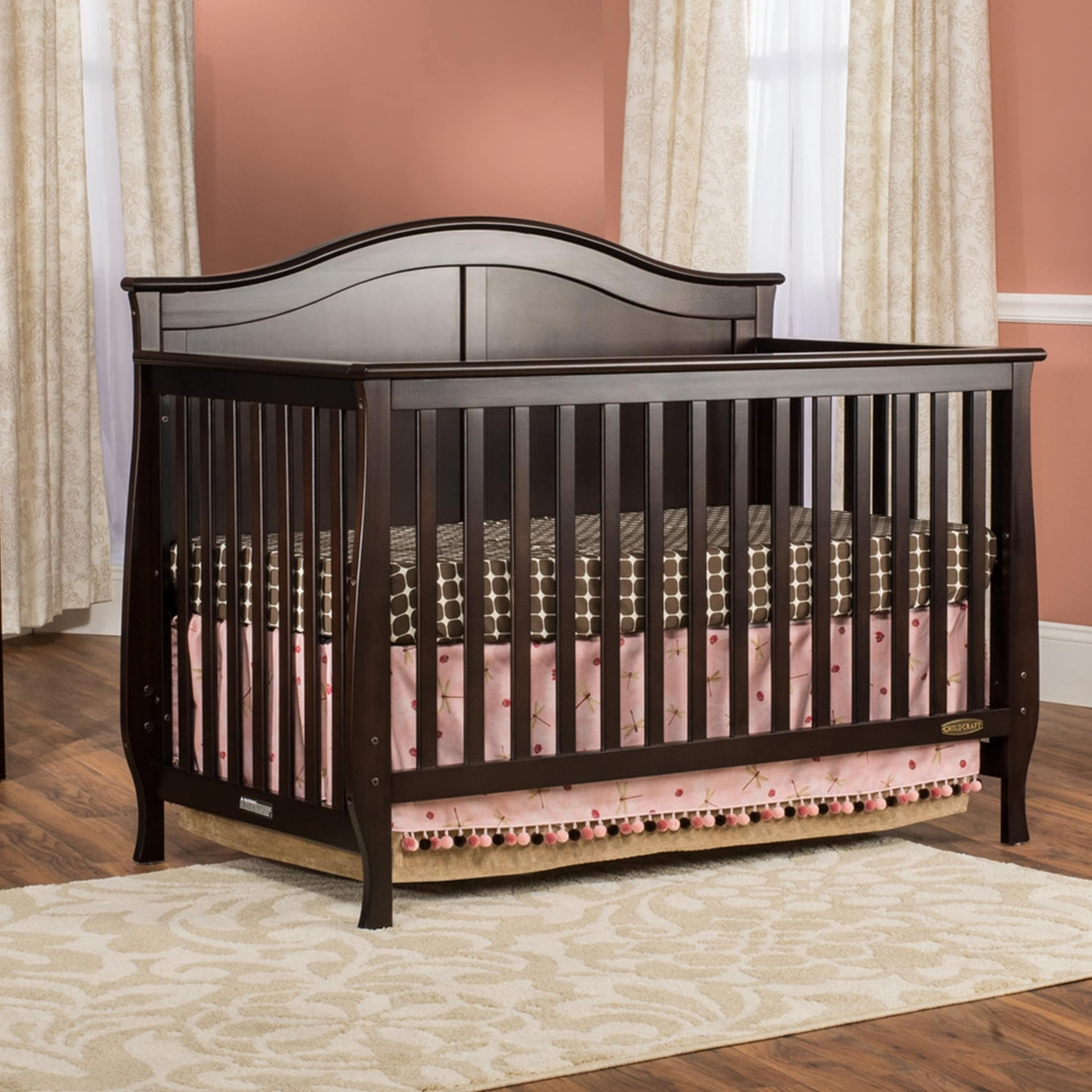 lifetime in cribs today camden child garden shipping crib craft home slate overstock product free convertible