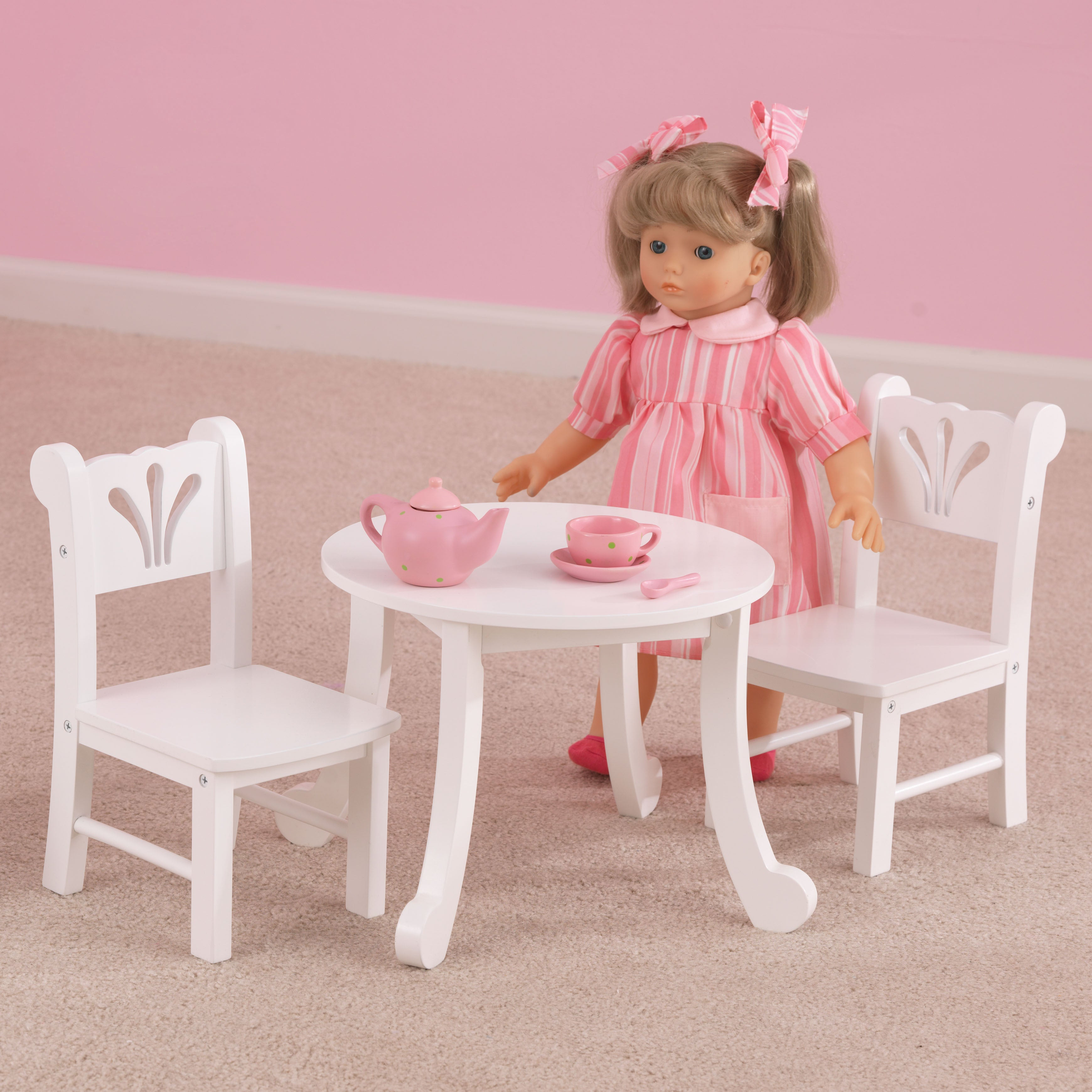 Marvelous KidKraft Lil Doll Table And Chair Play Set   Free Shipping On Orders Over  $45   Overstock   14668193