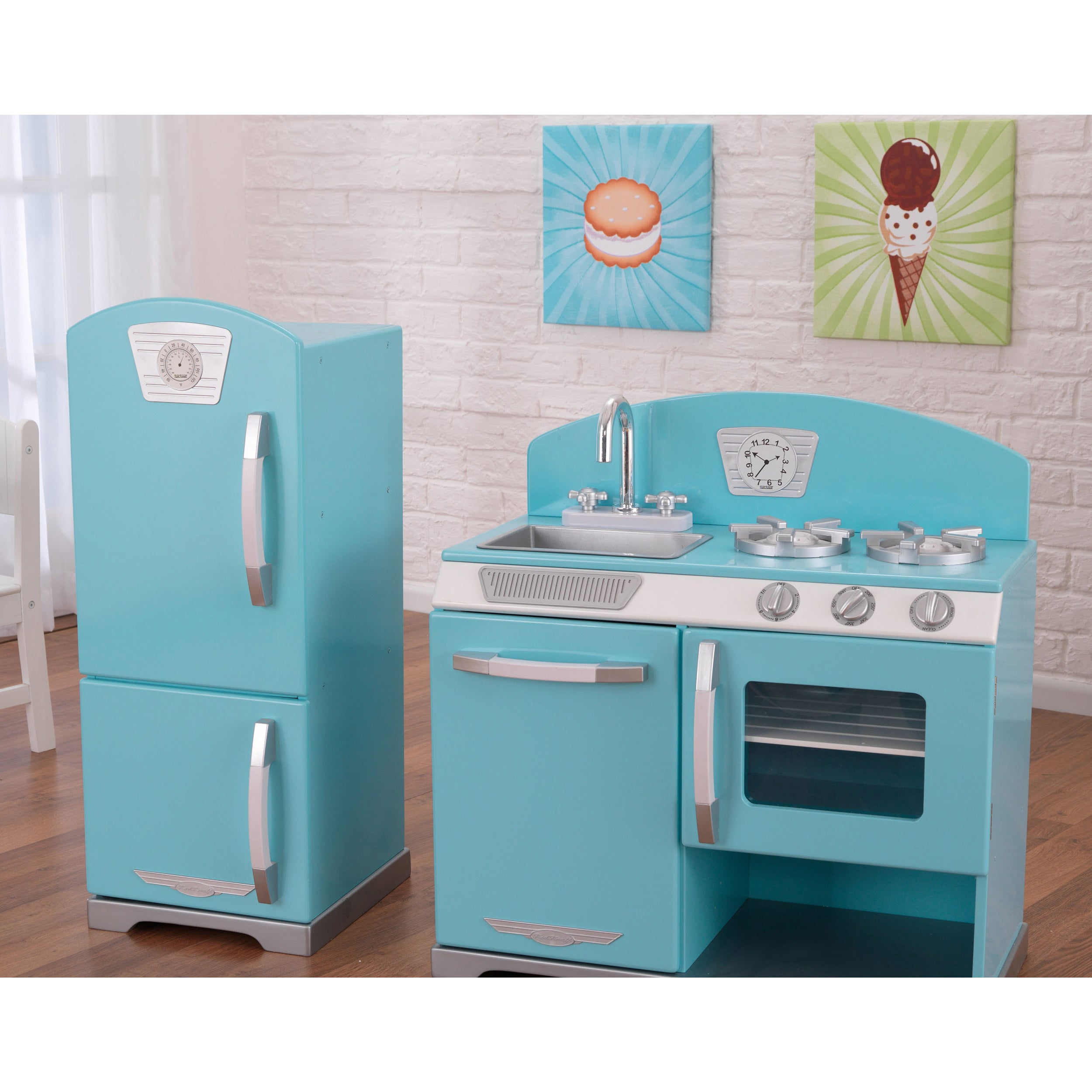 Shop KidKraft Retro Kitchen and Refrigerator - Free Shipping Today ...