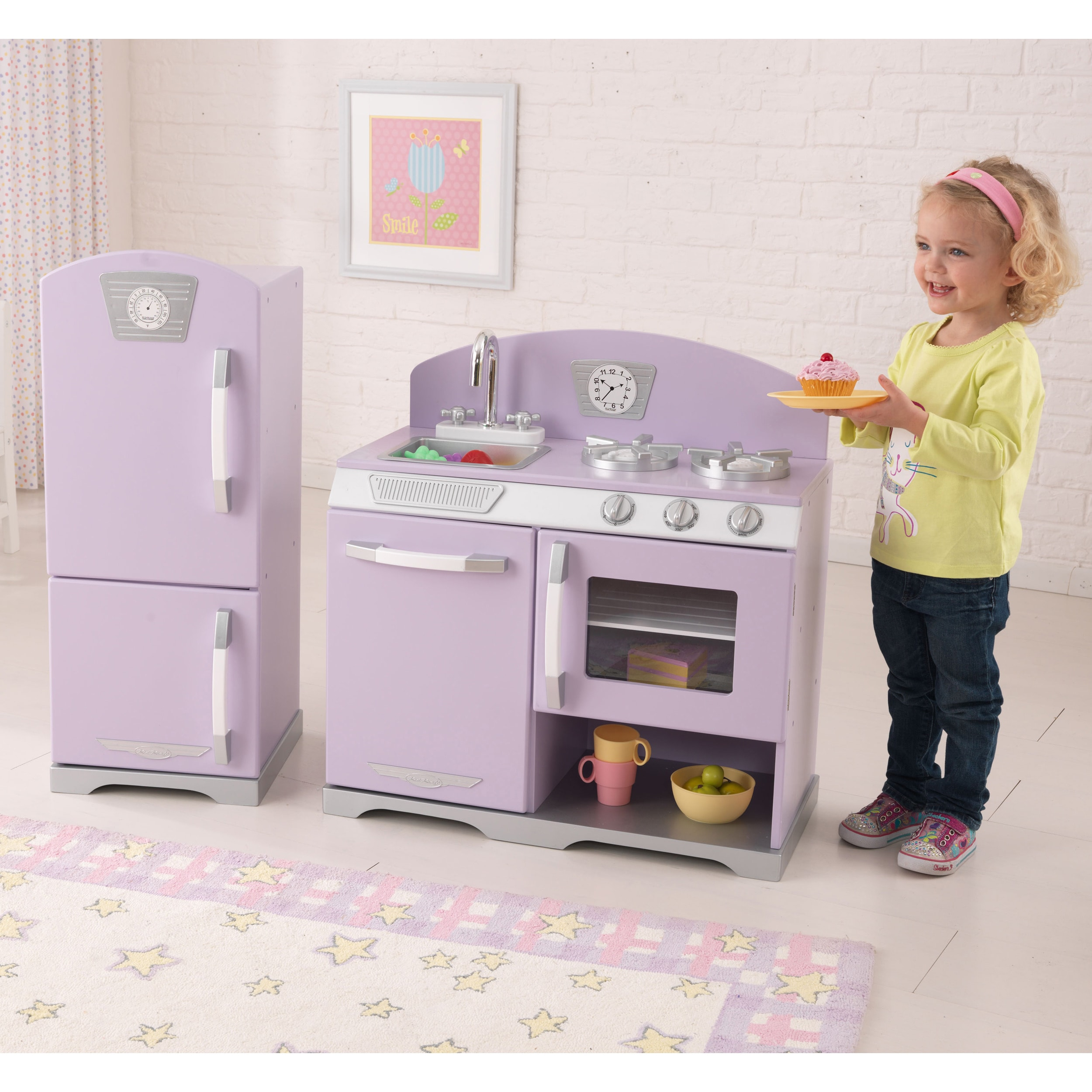 shop kidkraft retro kitchen and refrigerator free shipping today overstockcom 7179423 - Kidkraft Vintage Kitchen