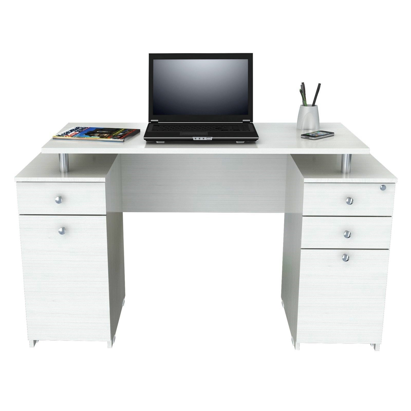studio writing modern baxton dining com trapezoid dp desk amazon kitchen