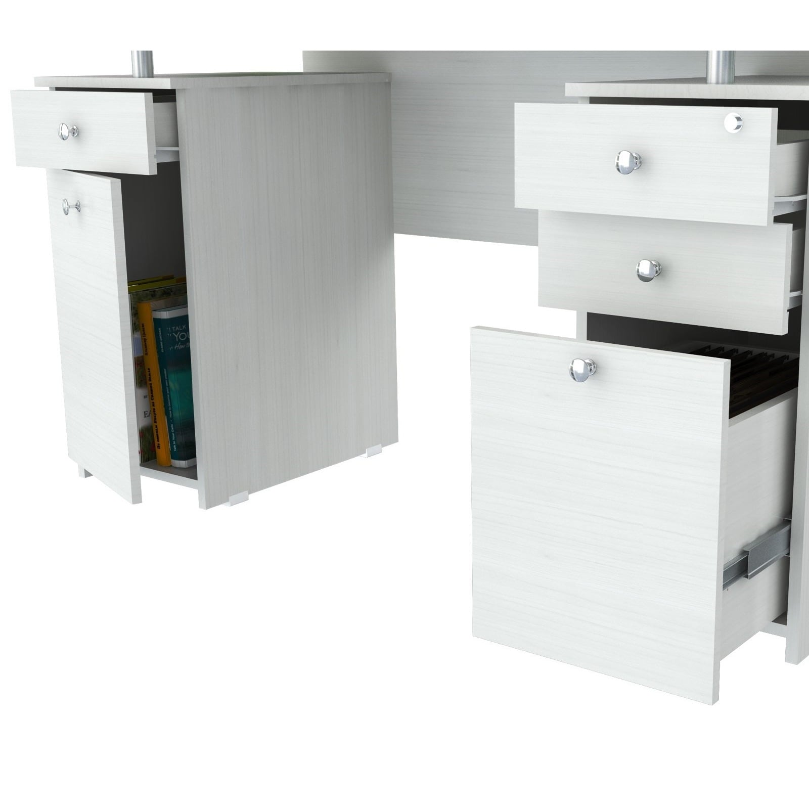 hand second used off desk glasstop tables with computer drawers discount