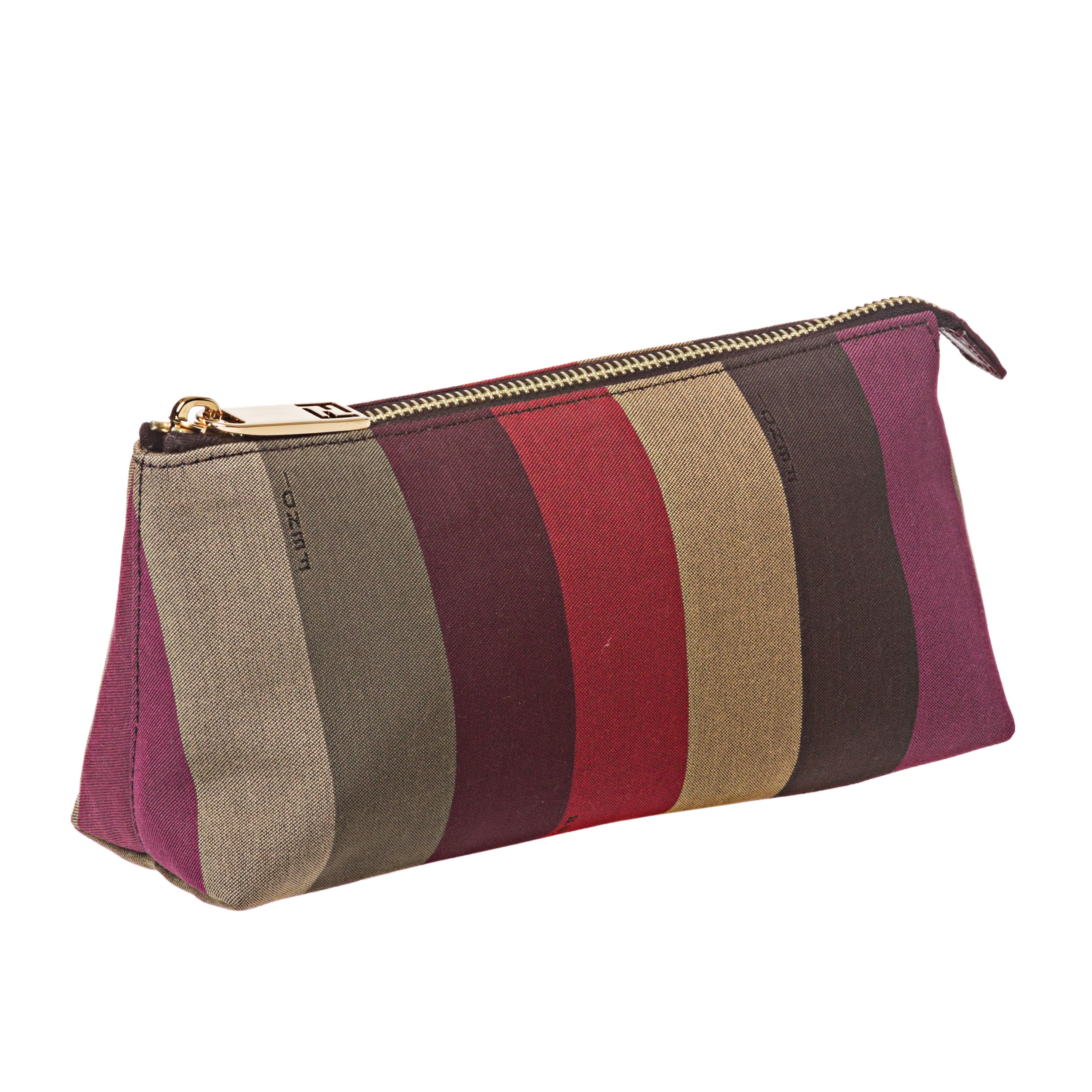 1663634d47 Shop Fendi Pequin Striped Cosmetic Bag - Free Shipping Today - Overstock -  7179648